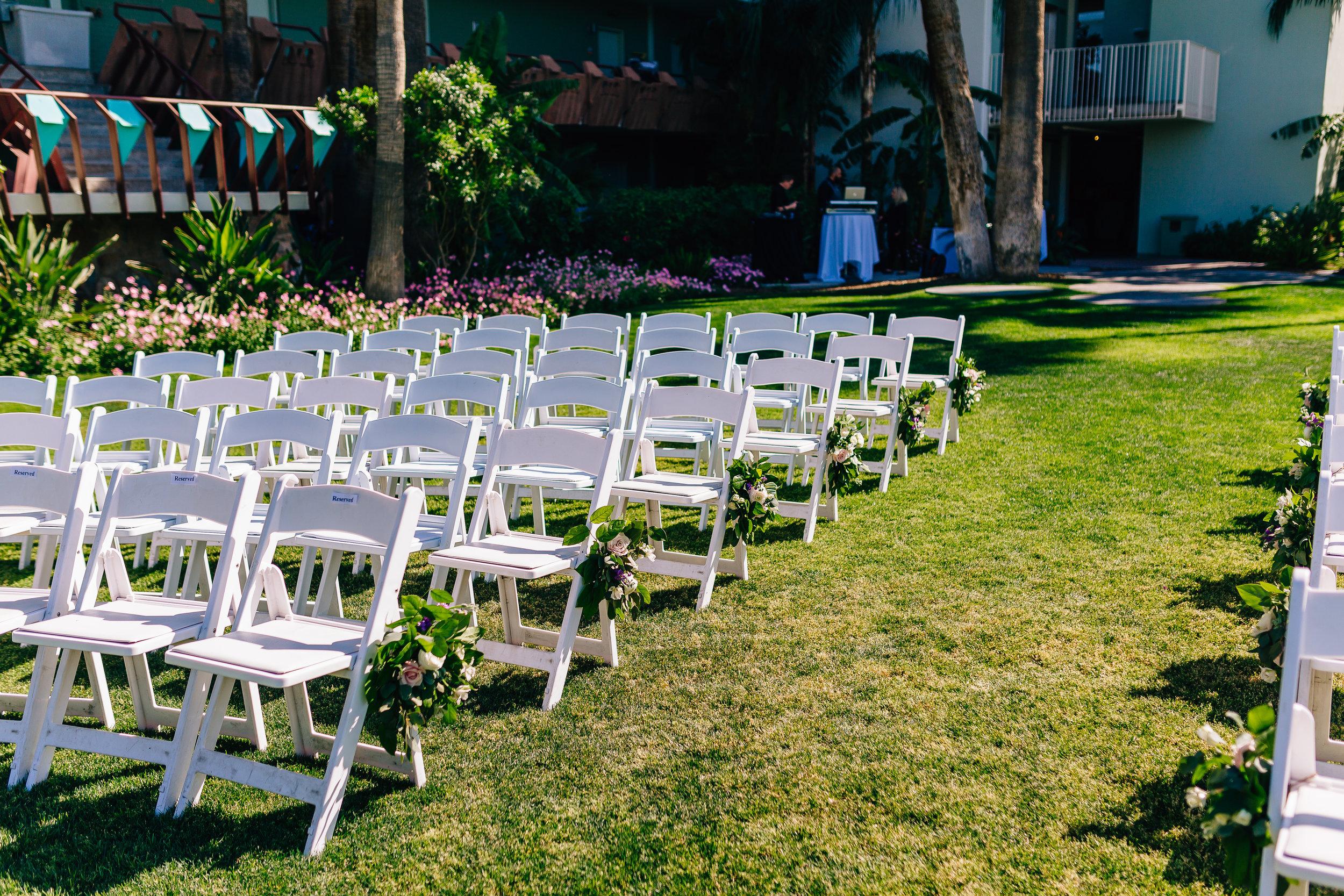 Desert Inspired Spring Wedding at Hotel Valley Ho - Ceremony Chair Decor