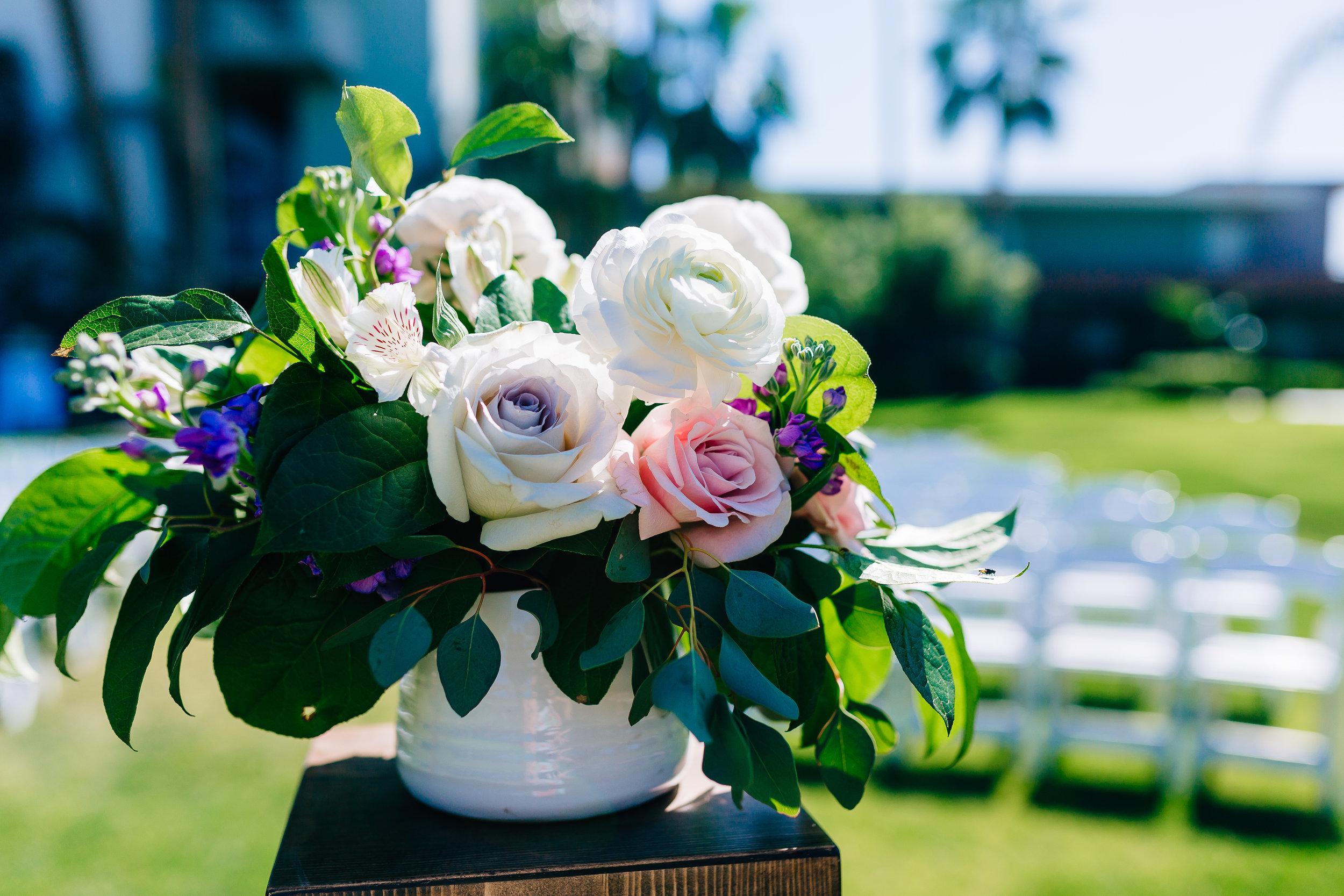 Desert Inspired Spring Wedding at Hotel Valley Ho - Large Round Centerpiece