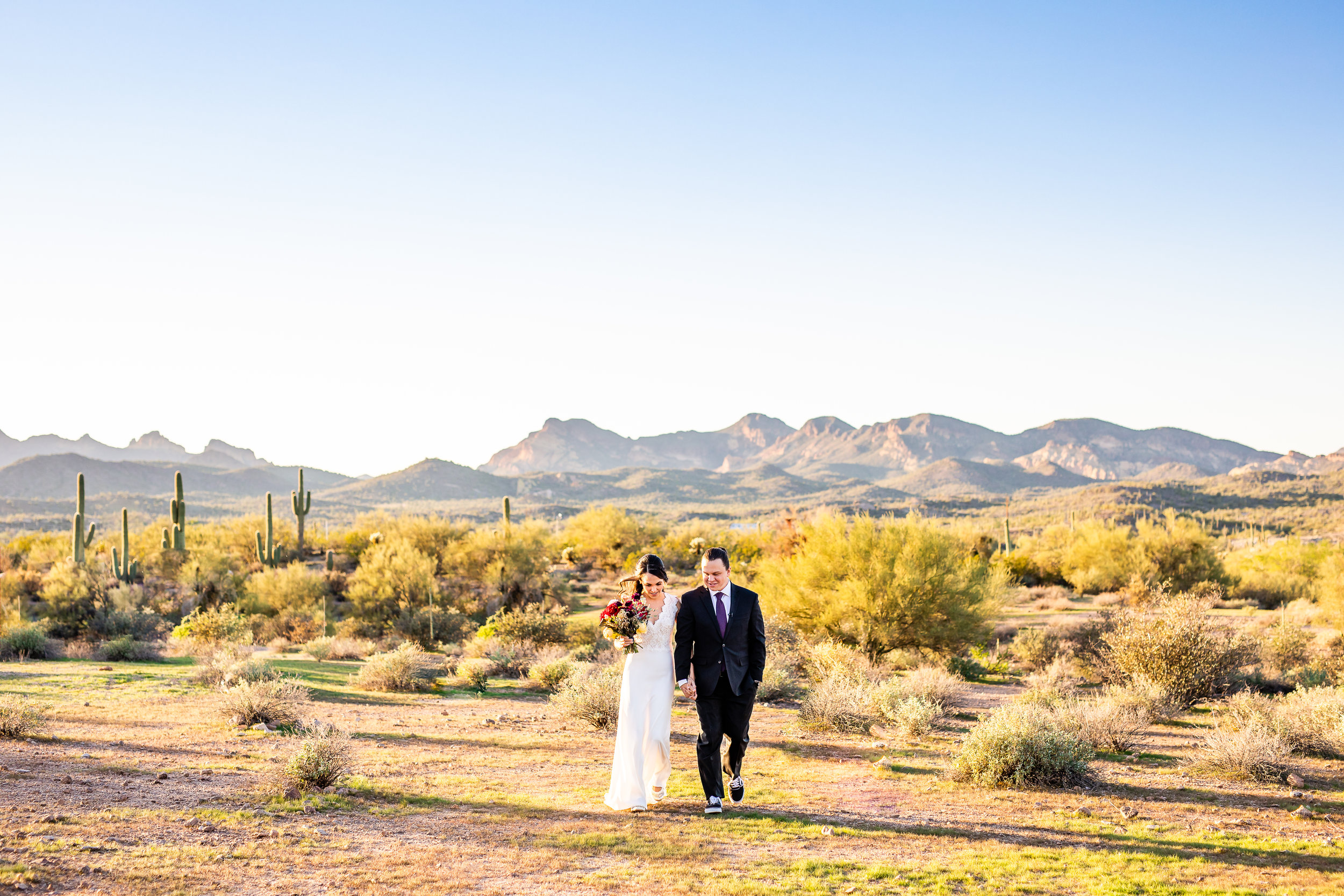 Desert Wedding in the Superstition Mountains