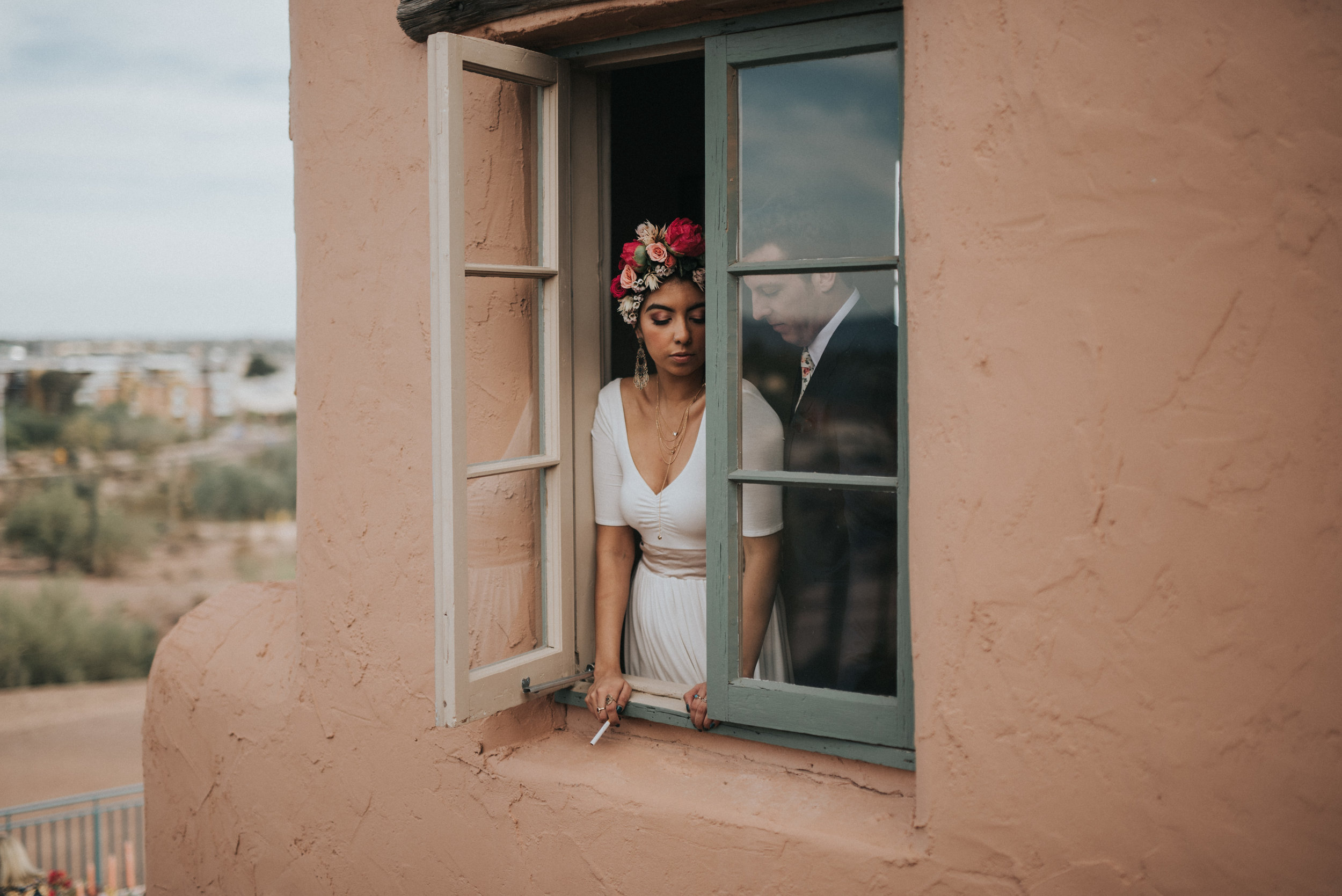 Frida Kahlo Inspired Wedding - Bride and Groom Style