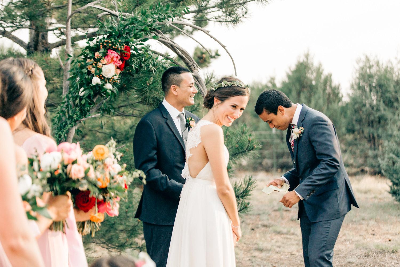 Colorful Cabin Wedding - Rustic Wedding Arch