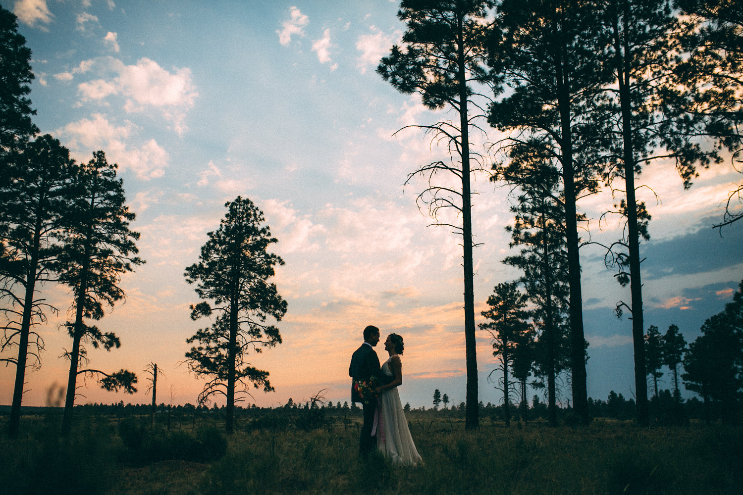 Colorful Cabin Wedding - Sunset Portraits