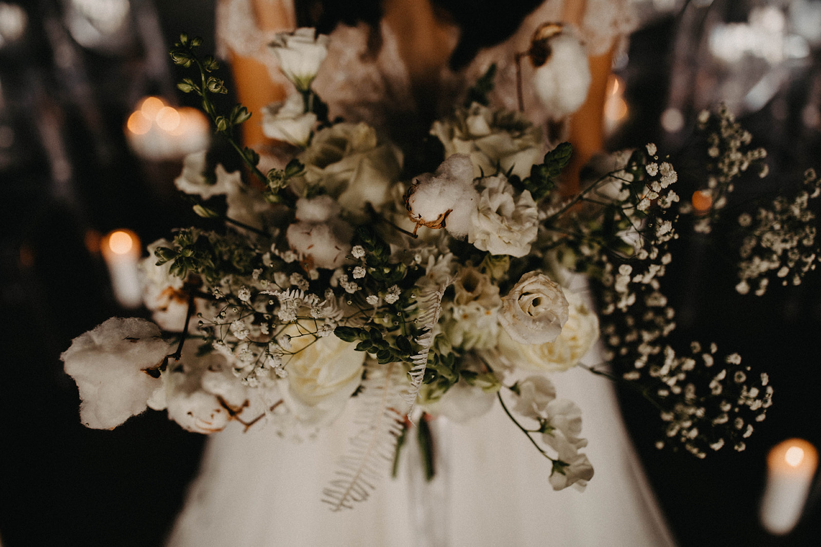Modern Babies Breath Wedding Inspiration - Arizona florist Phoenix scottsdale Mesa chandler Sedona Prescott - Baby's Breath and Cotton Bouquet