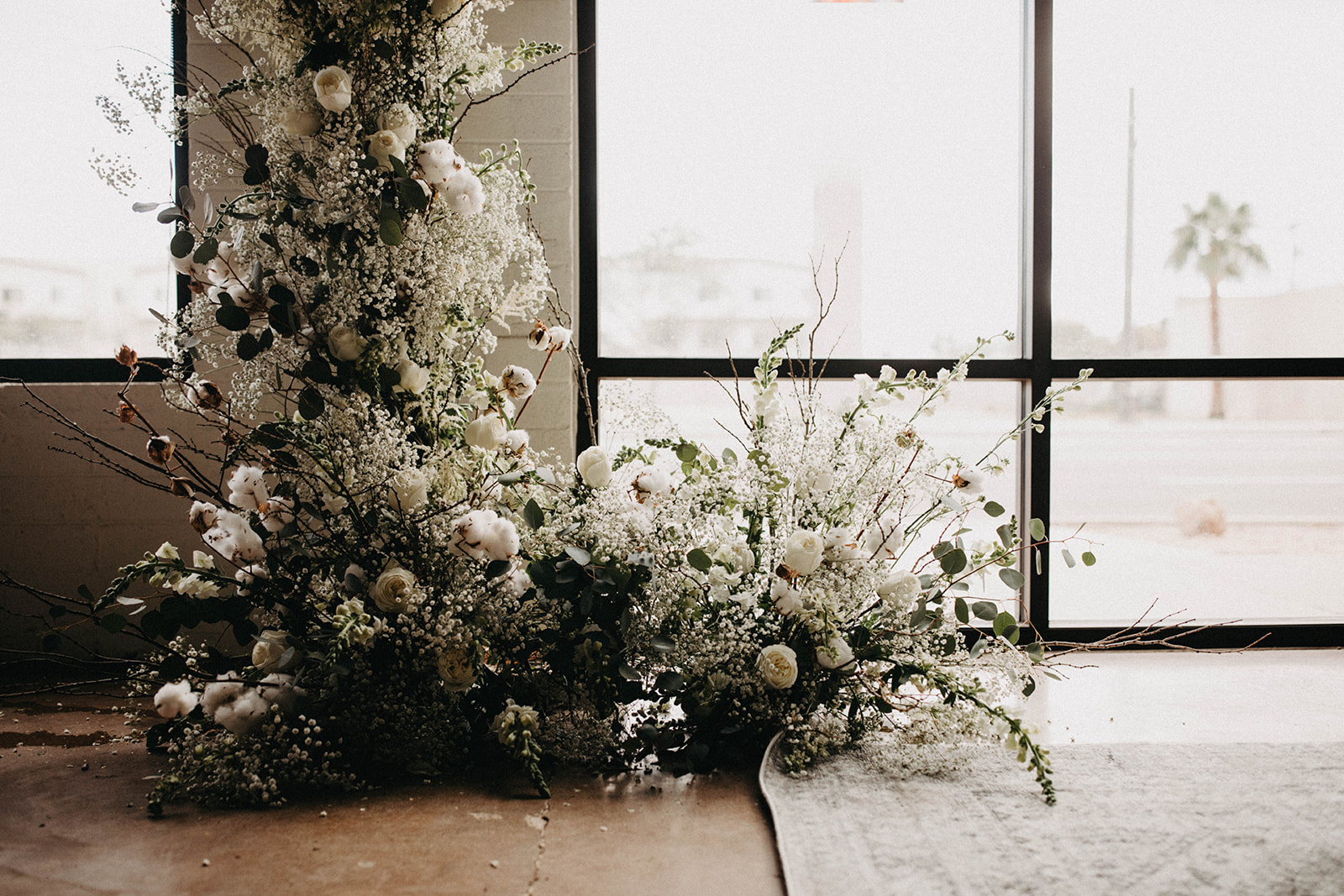 Modern Babies Breath Wedding Inspiration - Arizona florist Phoenix scottsdale Mesa chandler Sedona Prescott - Ceremony Decor - Arch Inspiration - Nontrational