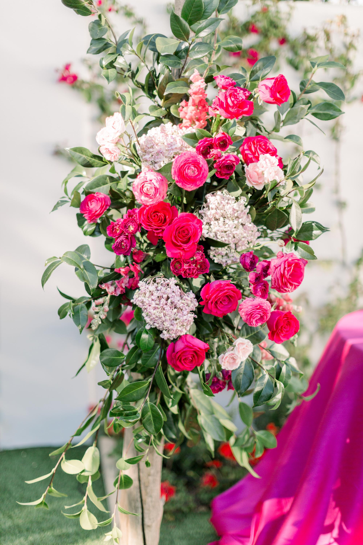 Roxanne and Brandon's El Chorro Wedding - Arizona florist Phoenix scottsdale Mesa chandler Sedona Prescott - Ceremony Arch Detail