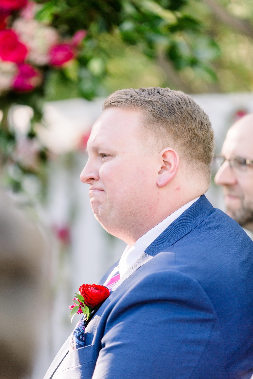 Roxanne and Brandon's El Chorro Wedding - Arizona florist Phoenix scottsdale Mesa chandler Sedona Prescott - Groom Crying