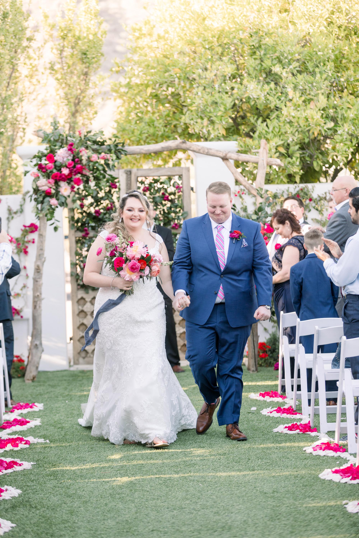 Roxanne and Brandon's El Chorro Wedding - Arizona florist Phoenix scottsdale Mesa chandler Sedona Prescott - Ceremony Exit