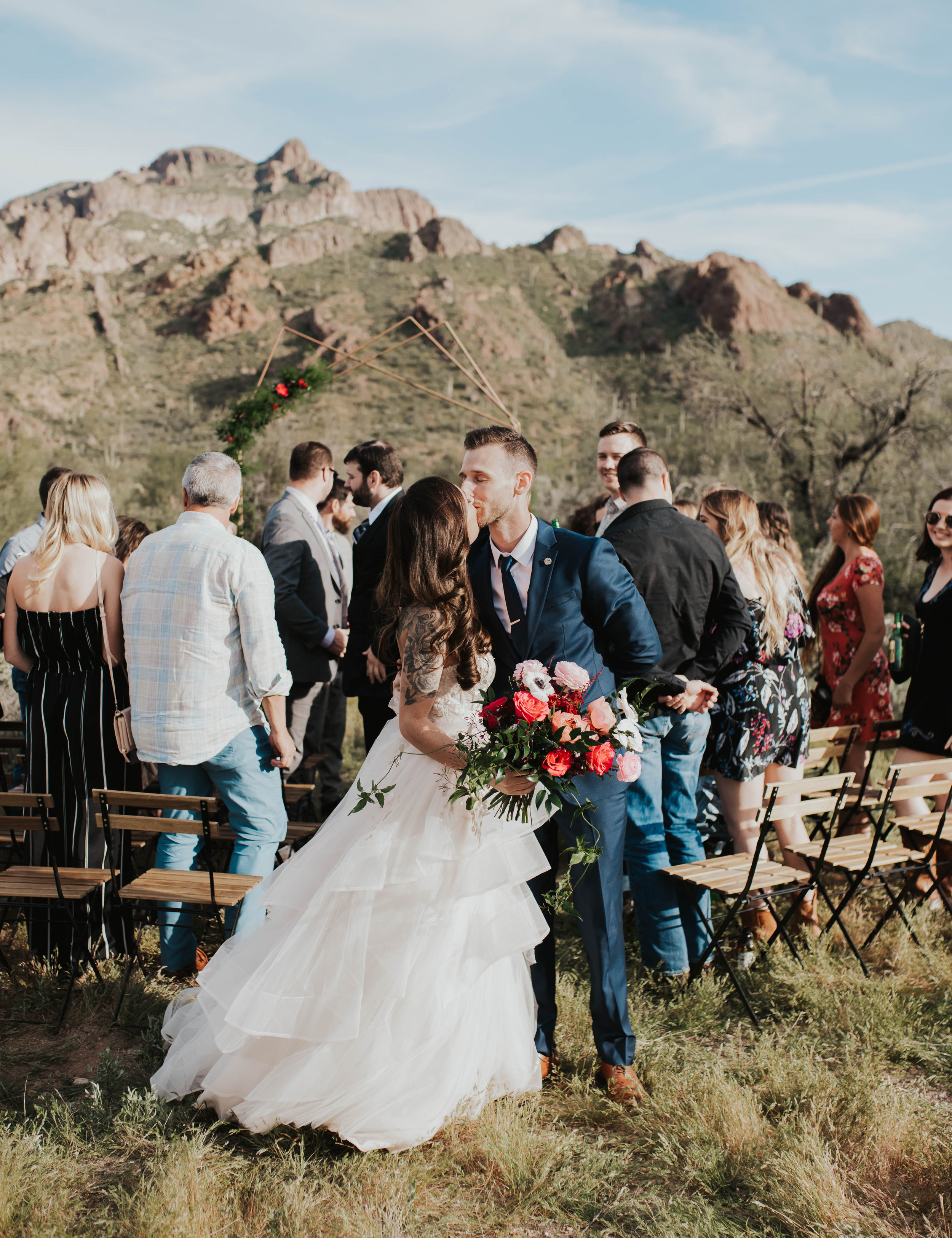 Desert Wedding at Tela Peralta - Arizona florist Phoenix scottsdale Mesa chandler Sedona Flagstaff Prescott - Ceremony in the Mountains
