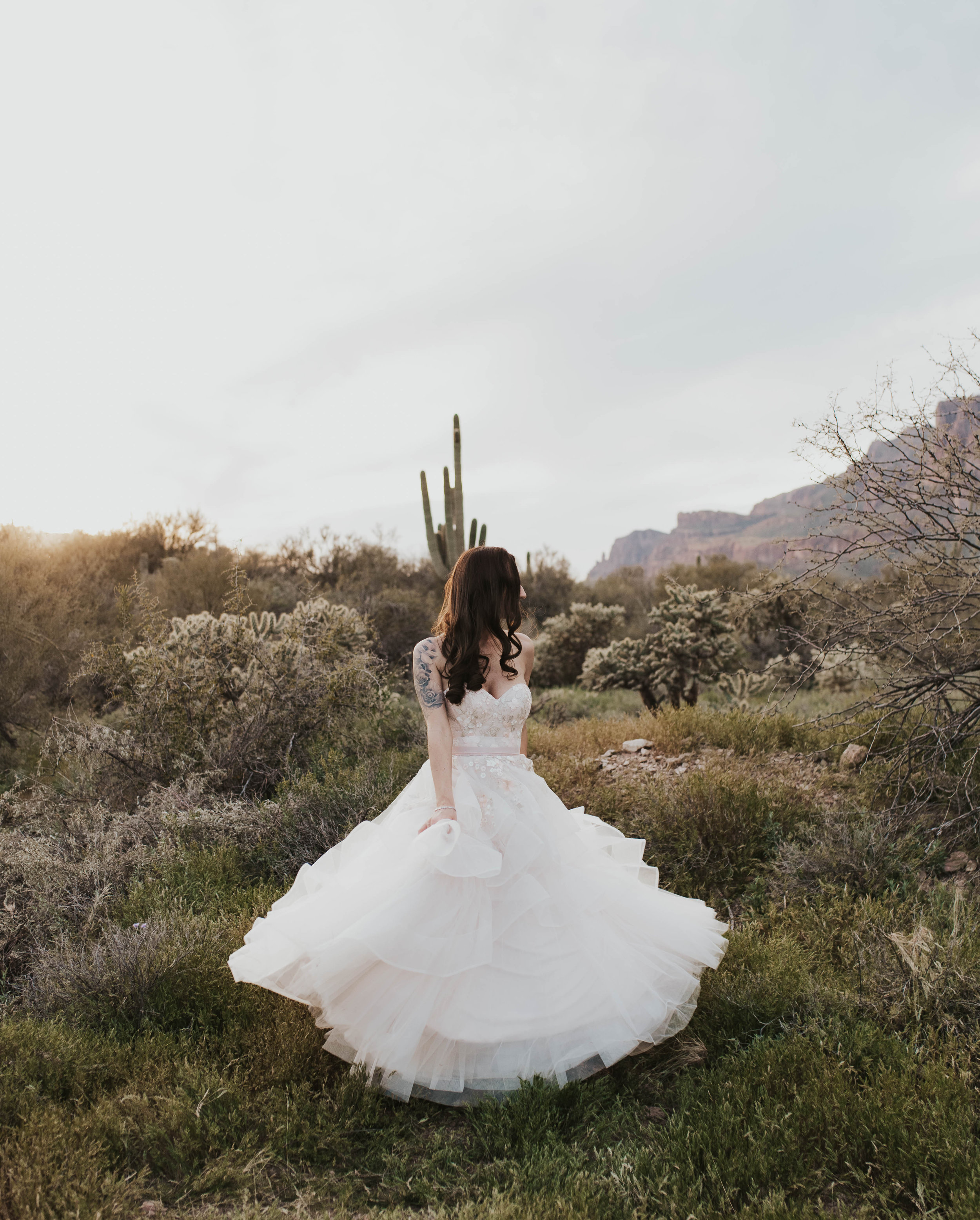 Desert Wedding at Tela Peralta - Arizona florist Phoenix scottsdale Mesa chandler Sedona Flagstaff Prescott - Bridal Portrait Posing Ideas