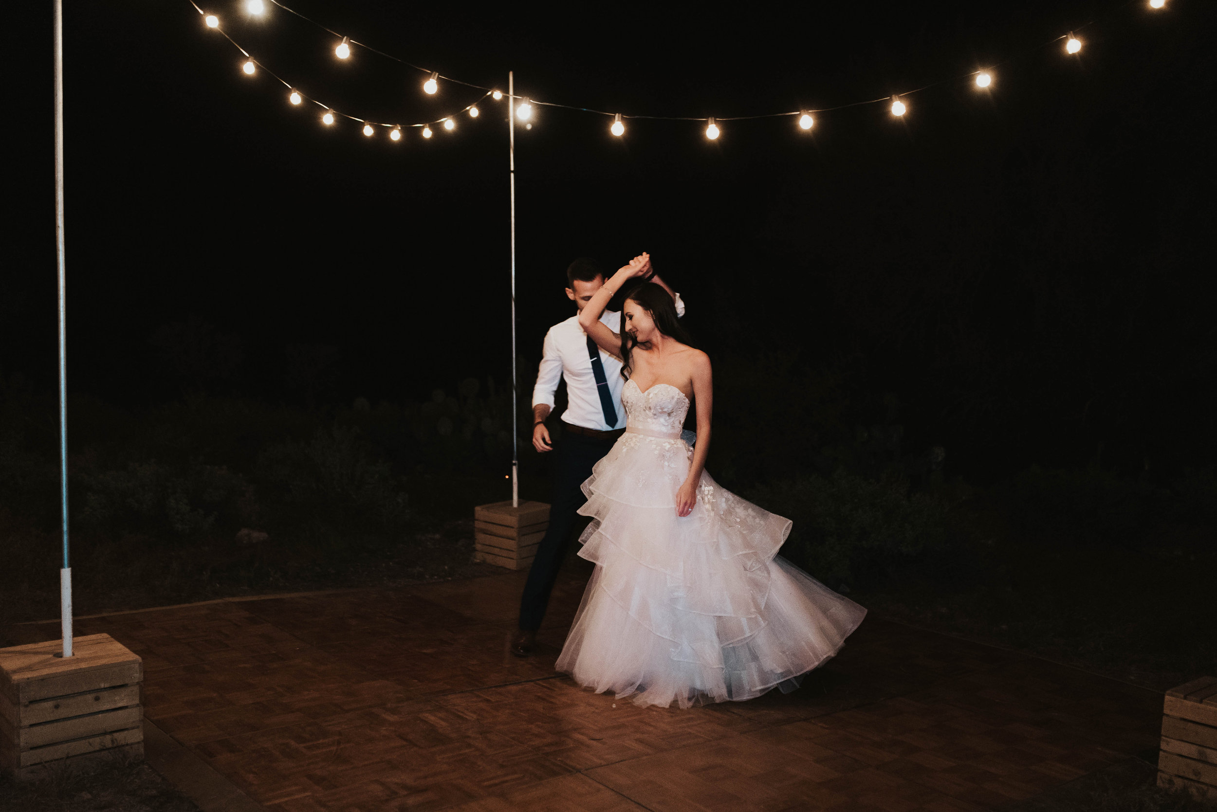 Desert Wedding at Tela Peralta - Arizona florist Phoenix scottsdale Mesa chandler Sedona Flagstaff Prescott - Dancing Under the Stars