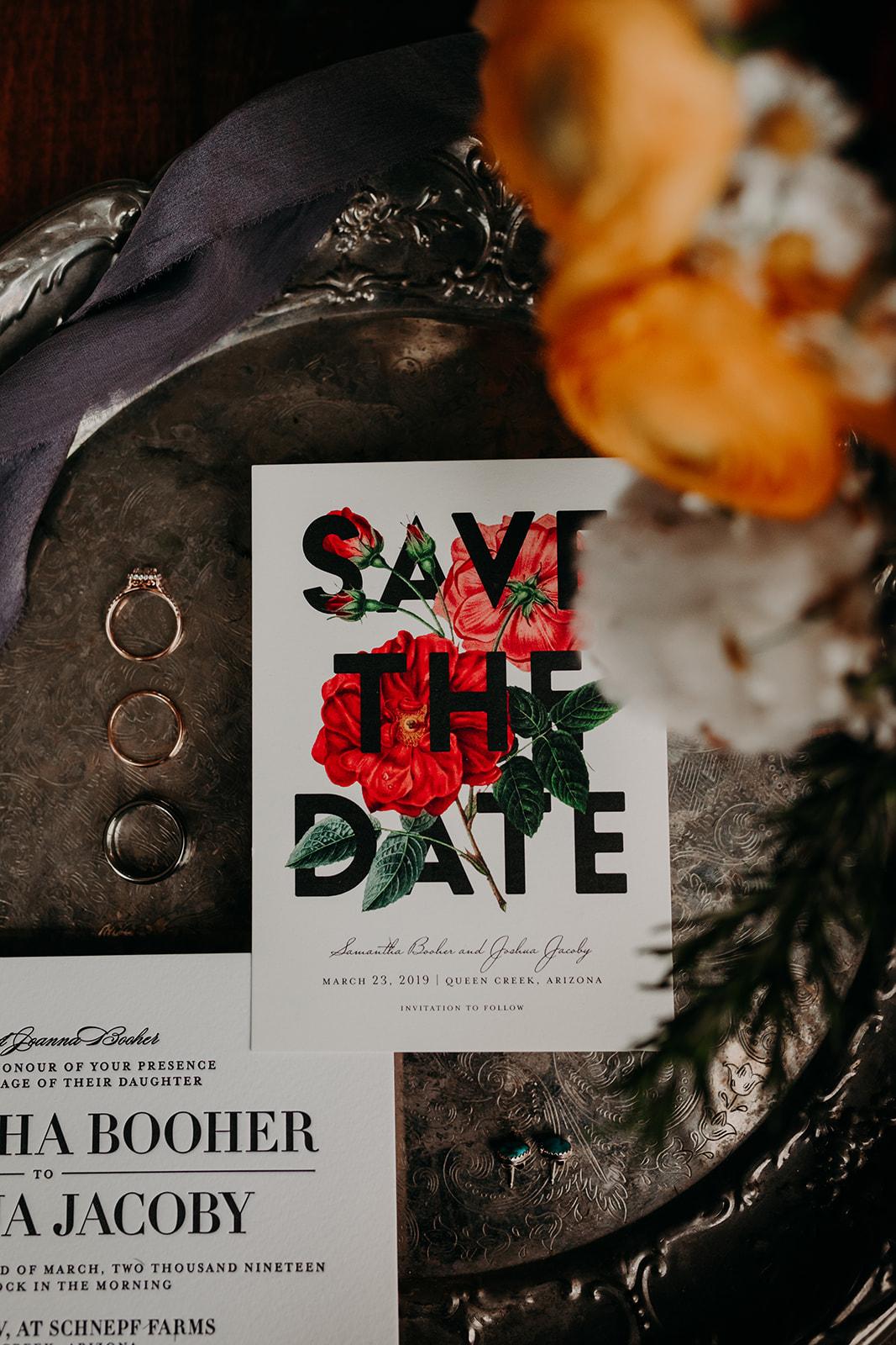 Disney Themed Wedding - Arizona florist Phoenix scottsdale Mesa chandler Sedona Flagstaff Prescott - Save the Date