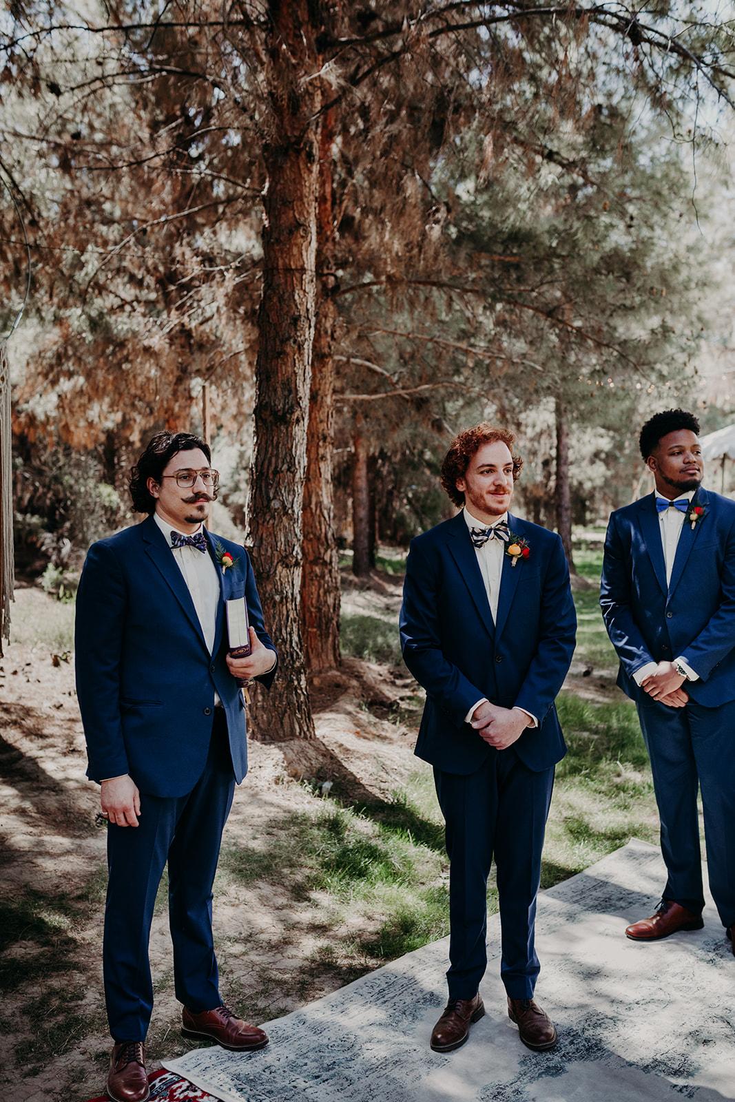 Disney Themed Wedding - Arizona florist Phoenix scottsdale Mesa chandler Sedona Flagstaff Prescott - Groom at Ceremony