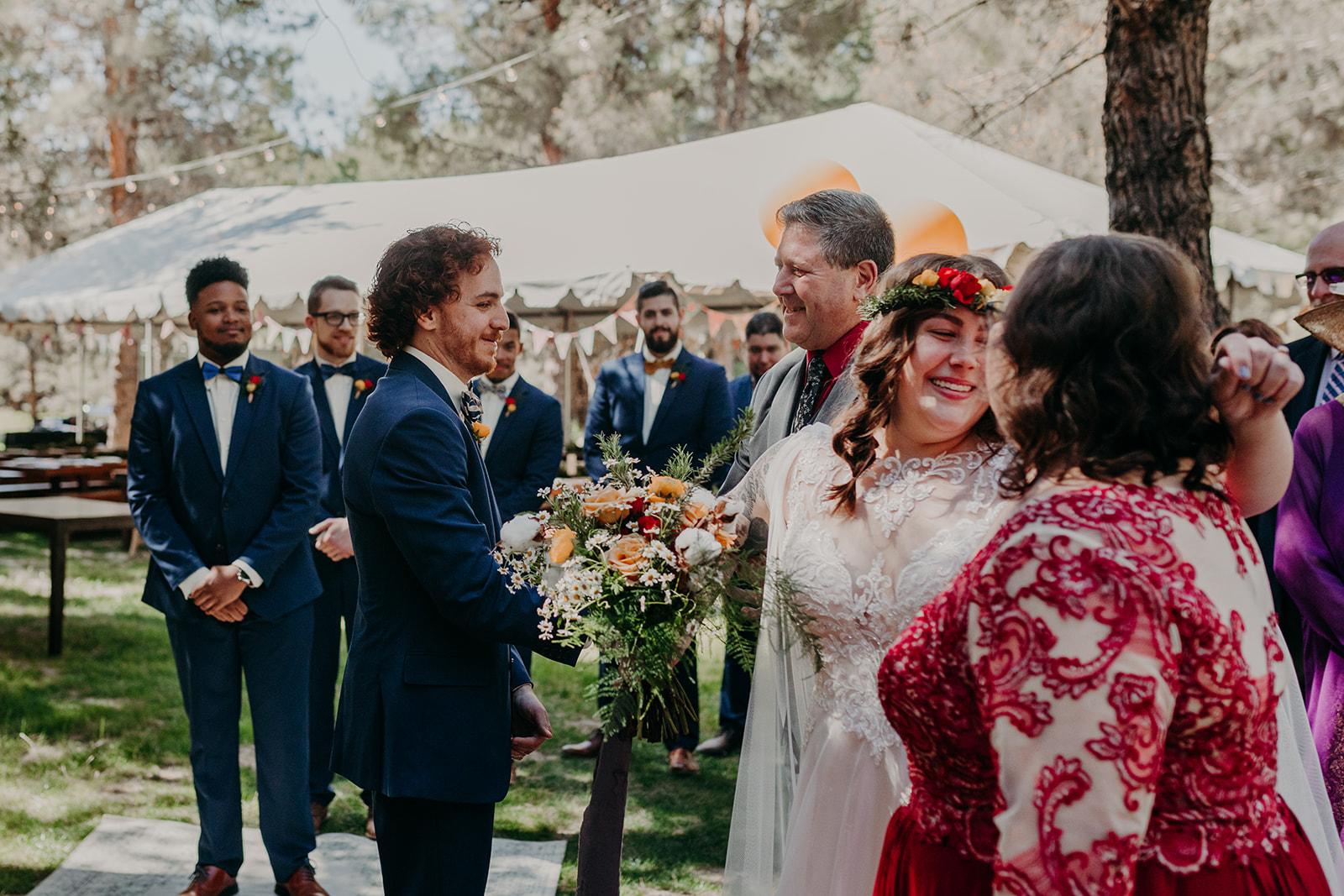 Disney Themed Wedding - Arizona florist Phoenix scottsdale Mesa chandler Sedona Flagstaff Prescott - Ceremony Family Photos