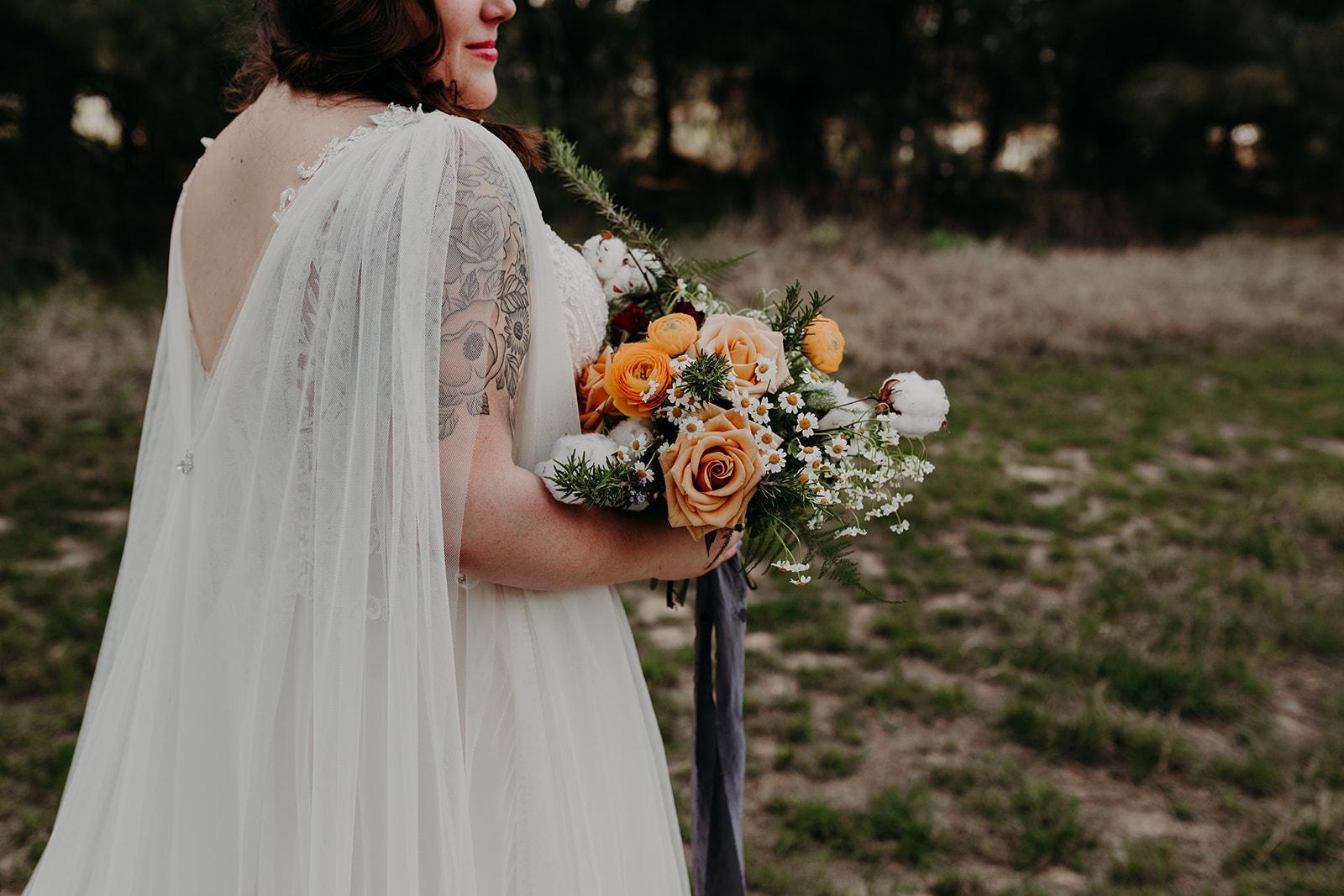 Disney Themed Wedding - Arizona florist Phoenix scottsdale Mesa chandler Sedona Flagstaff Prescott - Wedding Day Style Inspiration - Bridal Cape