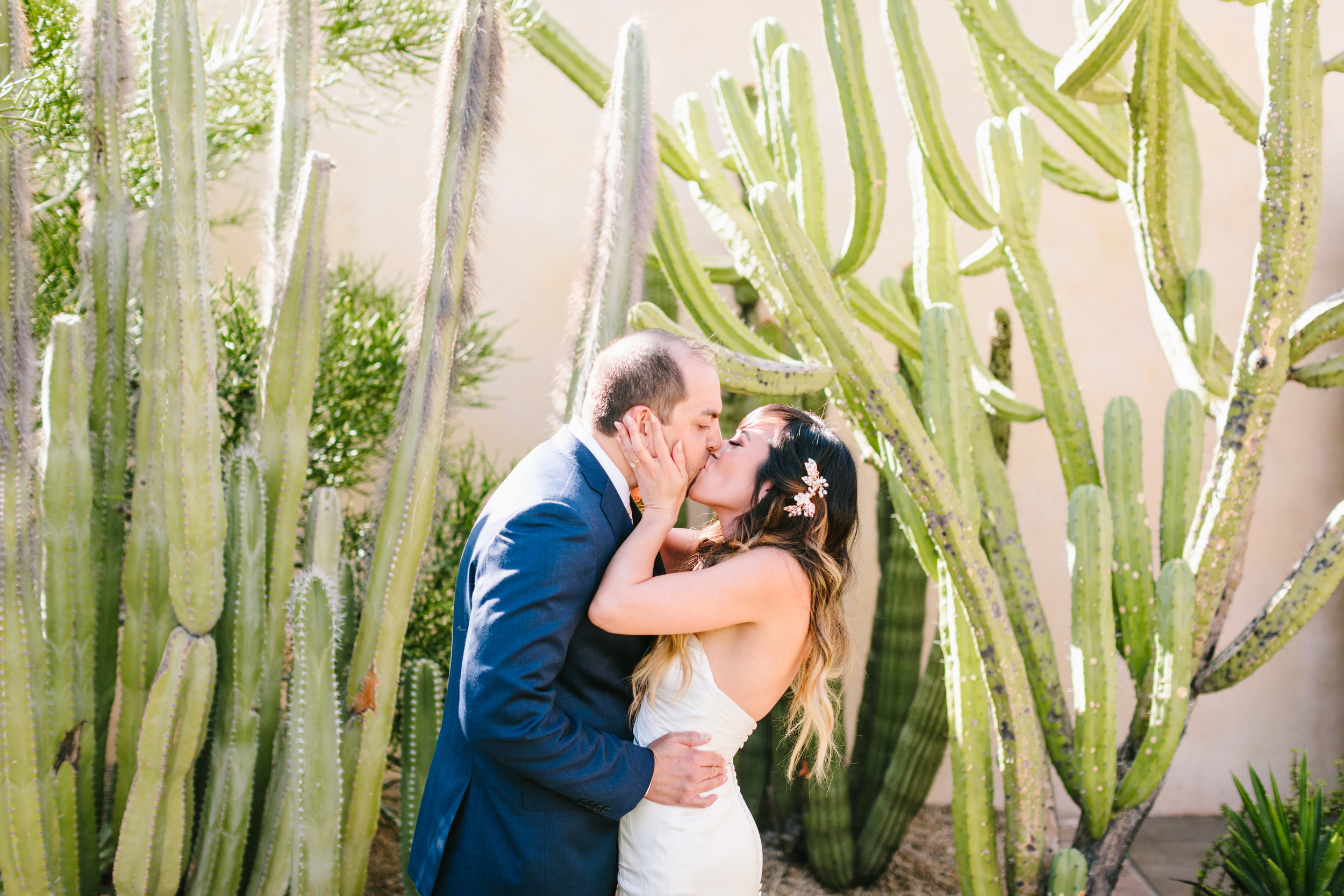 Tropical Royal Palms Wedding - Arizona florist Phoenix scottsdale Mesa chandler Sedona Flagstaff Prescott - First Look