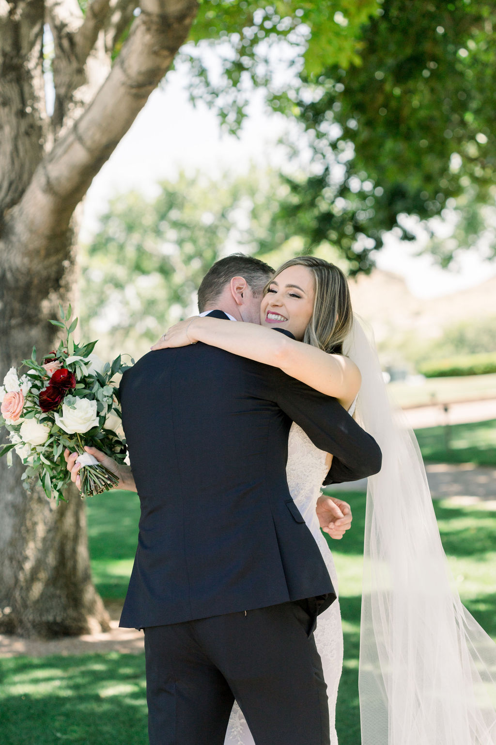 Superstition Mountain Destination Wedding - Arizona Wedding Florist - Phoenix, Scottsdale, Sedona - First Look
