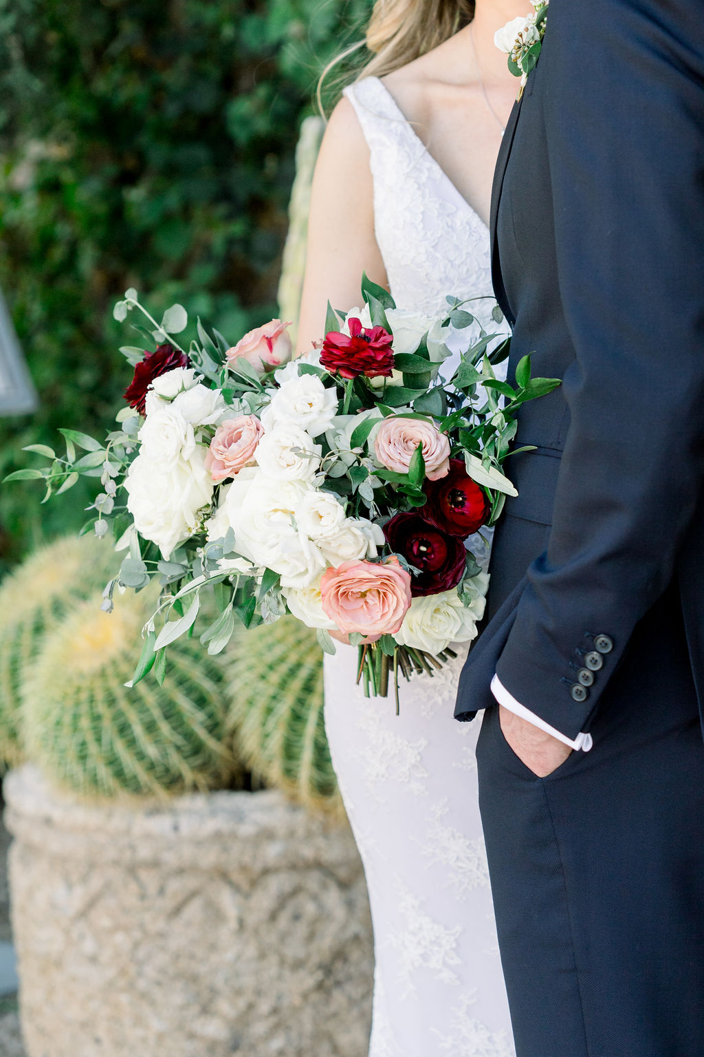 Superstition Mountain Destination Wedding - Arizona Wedding Florist - Phoenix, Scottsdale, Sedona - Bridal Bouquet Inspiration with Roses, Ranunculus, and Eucalyptus