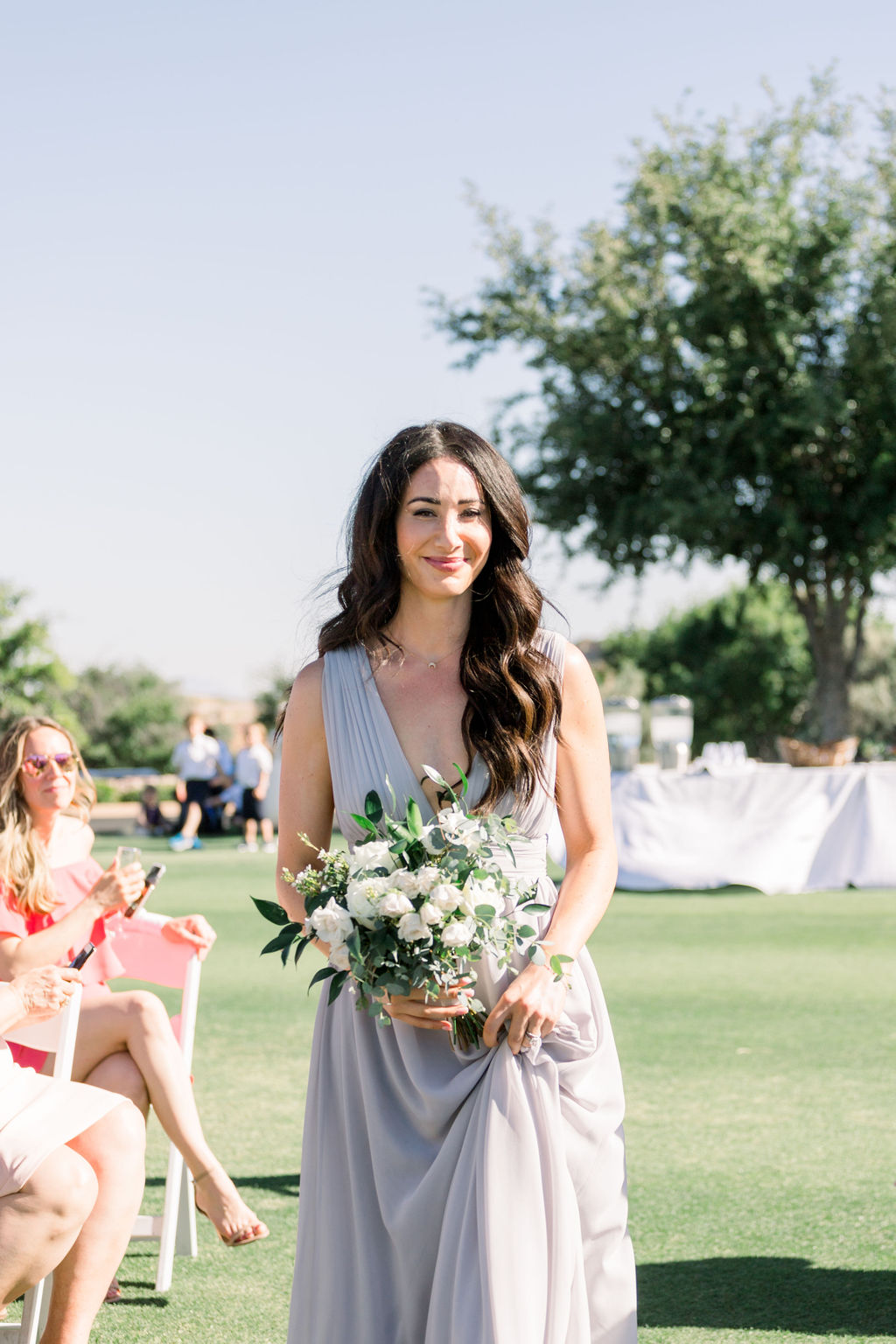 Superstition Mountain Destination Wedding - Arizona Wedding Florist - Phoenix, Scottsdale, Sedona - Bridesmaid Walking Down the Aisle