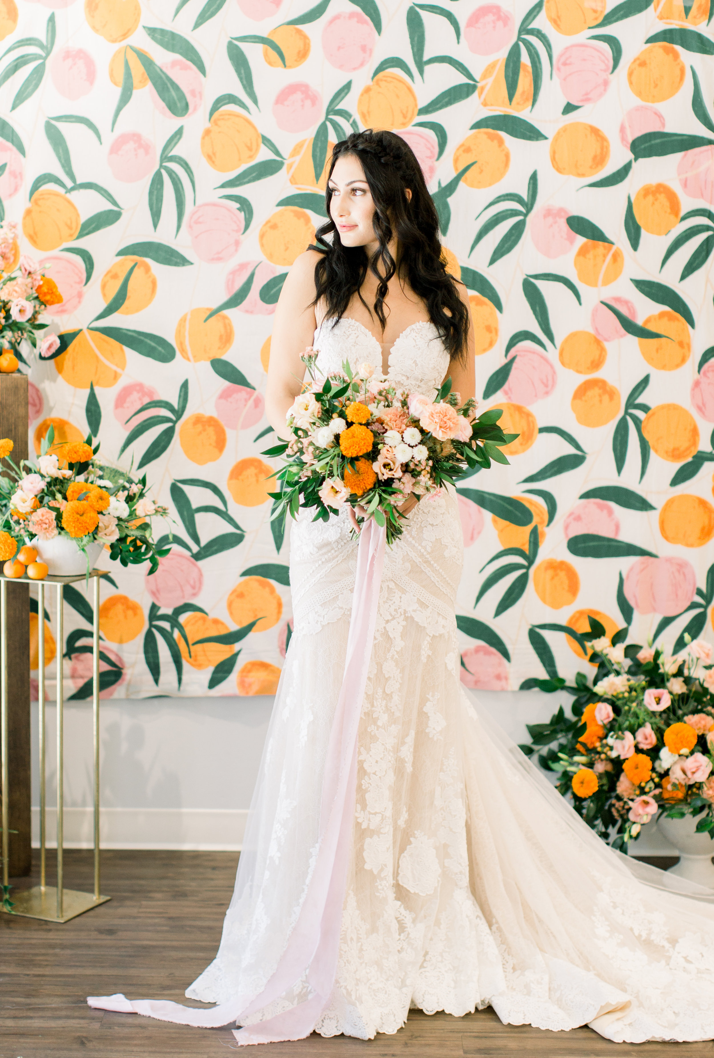 Bridal Gown Lookbook - Arizona florist Phoenix Scottsdale Sedona - Citrus Inspired Wedding Colors