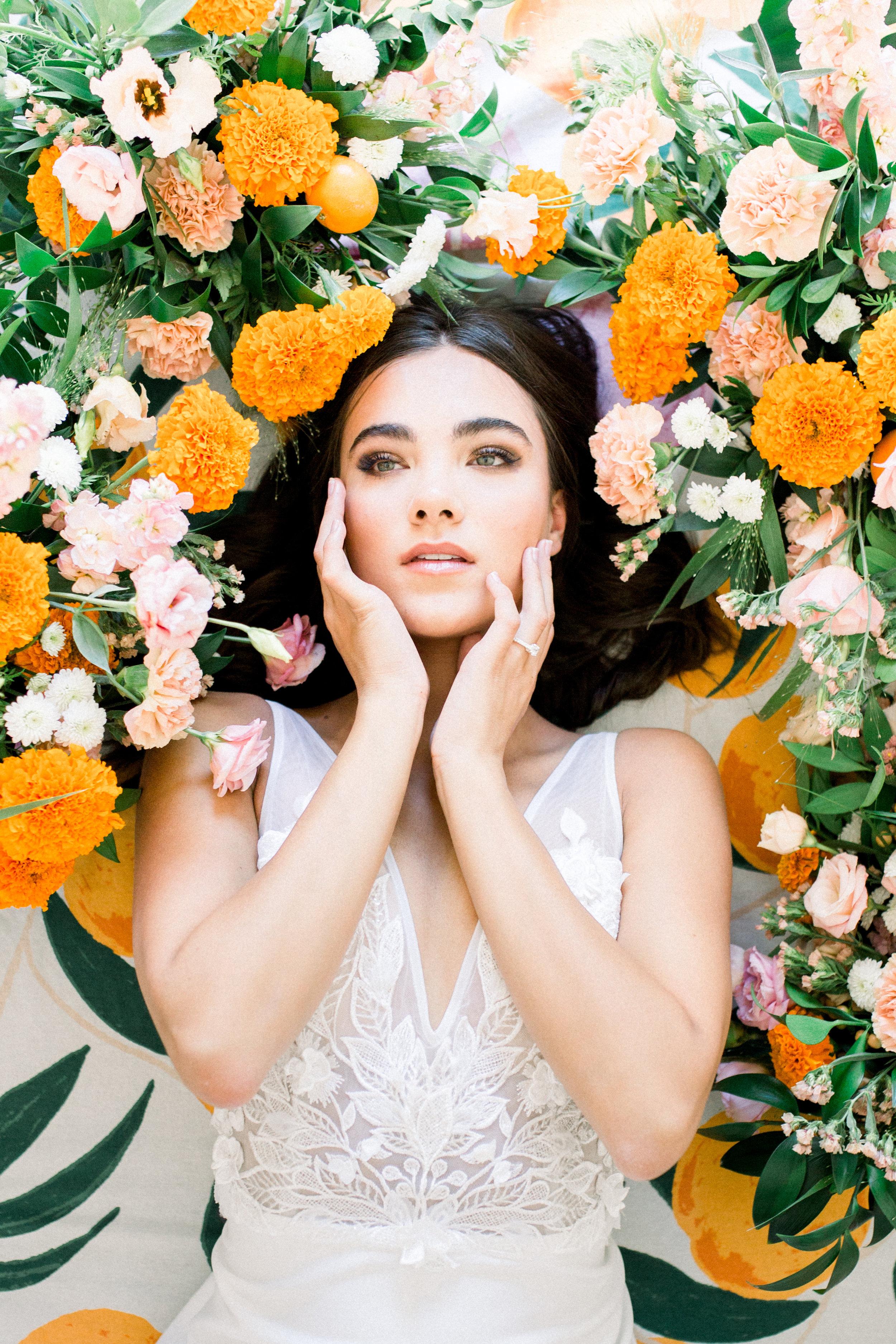 Bridal Gown Lookbook - Arizona florist Phoenix Scottsdale Sedona - Orange and Pink Wedding Inspiration