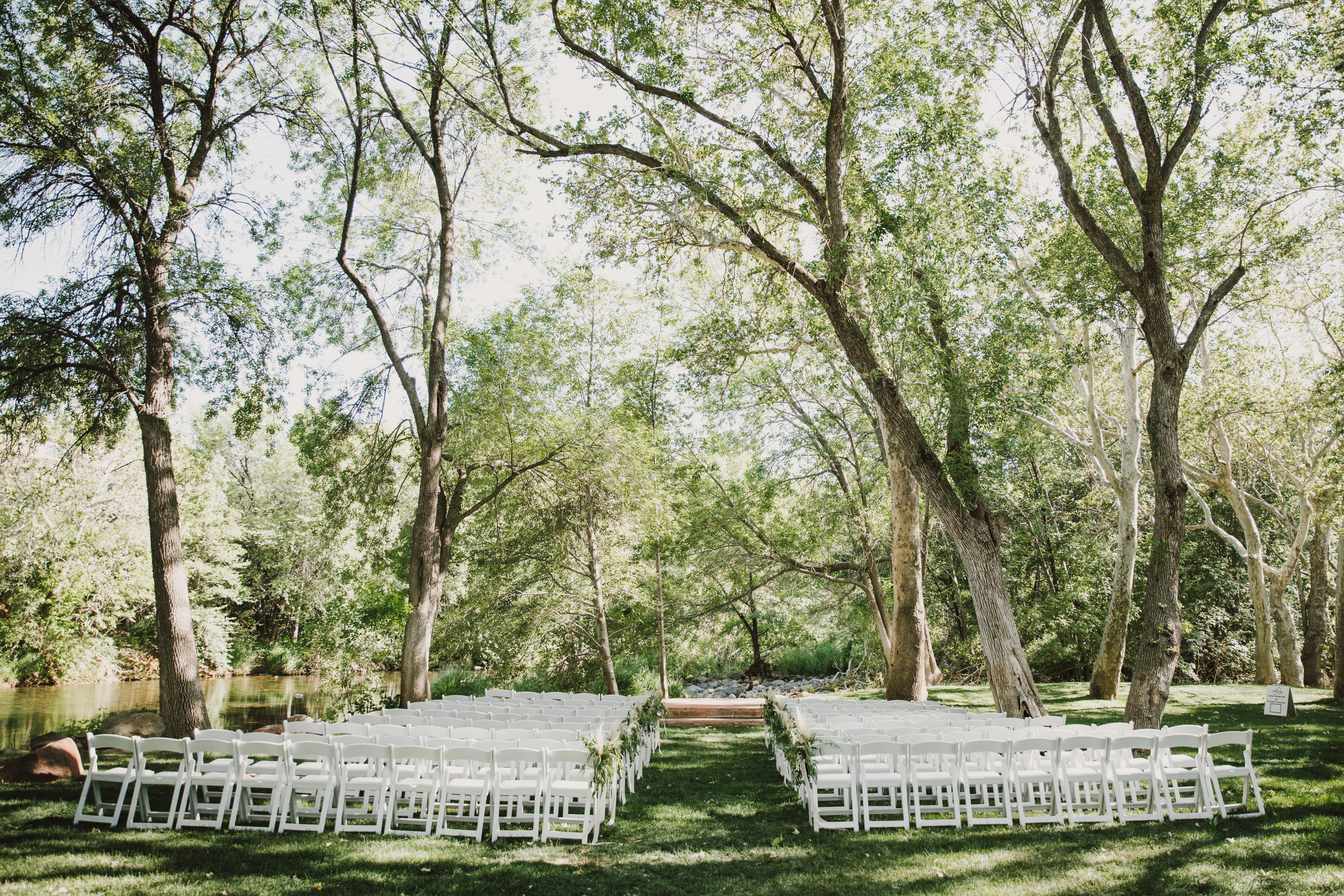 Los Abrigados Wedding - Arizona Florist Phoenix Scottsdale Sedona - Ceremony Inspiration - Pampas Grass Chair Markers
