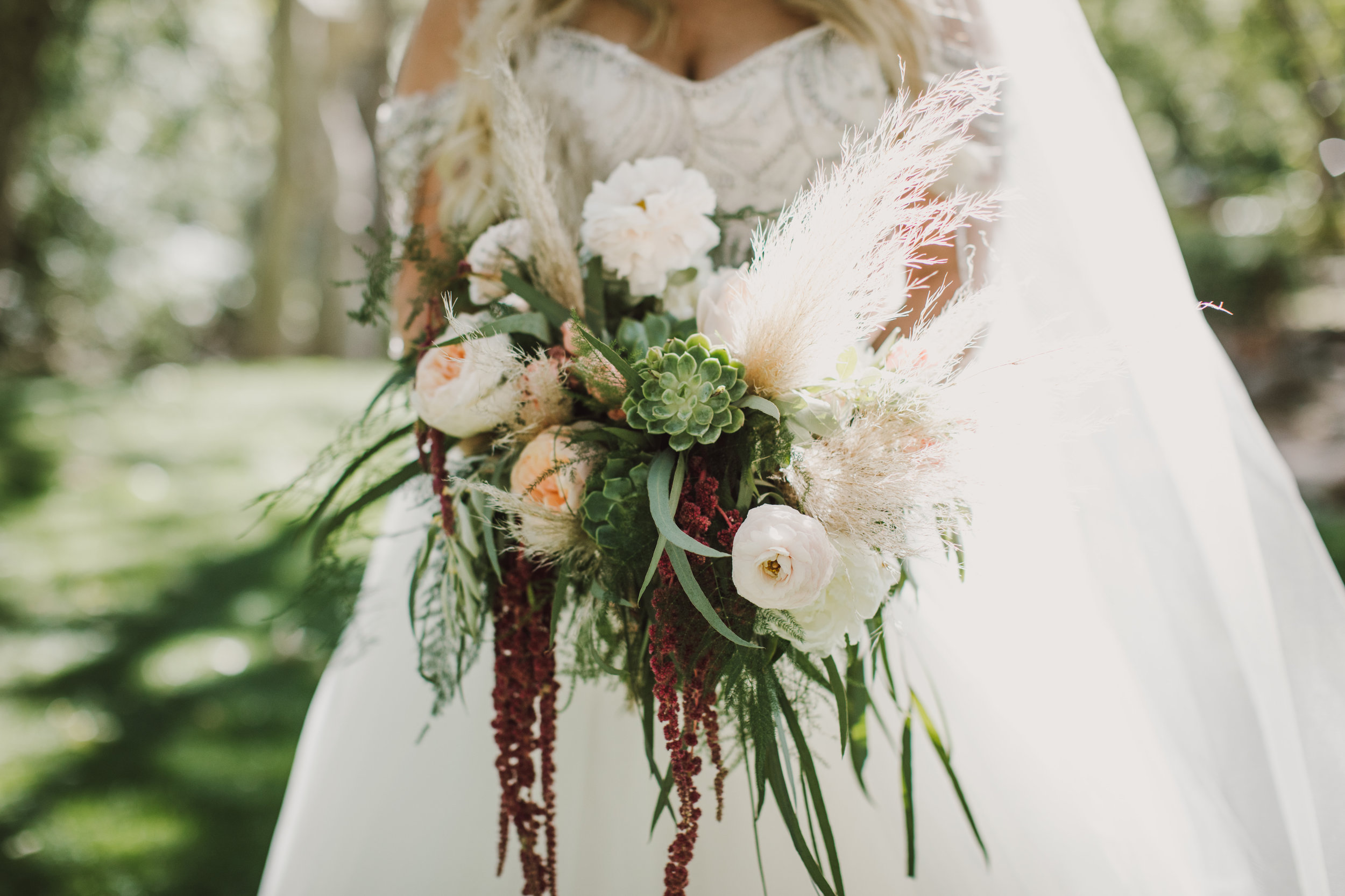 Los Abrigados Wedding - Arizona Florist Phoenix Scottsdale Sedona - Bridal Bouquet with Pampas Grass