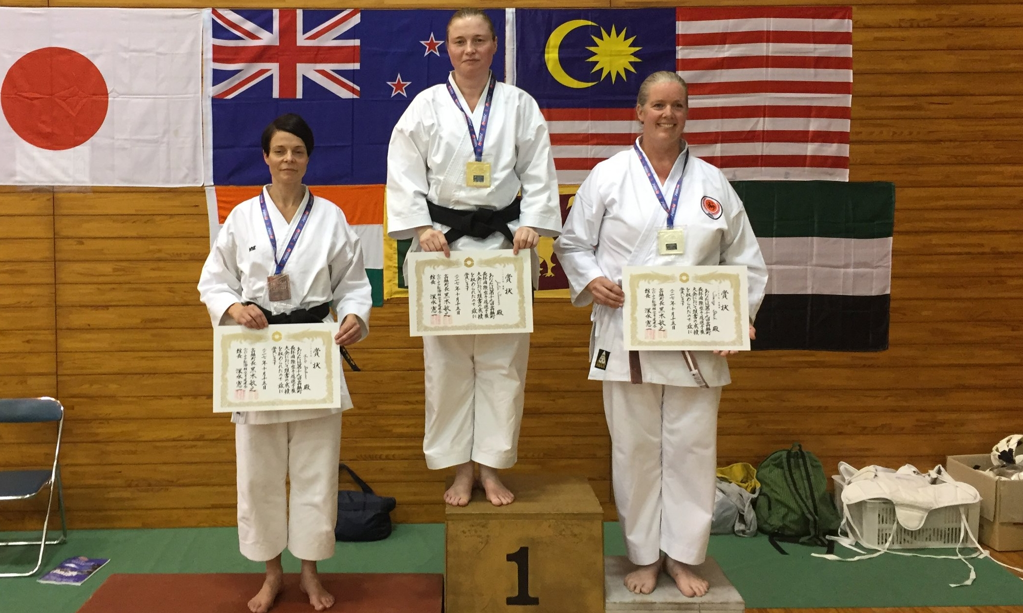 Julia Tanner claims gold at the 2017 International Karate Championships in Japan