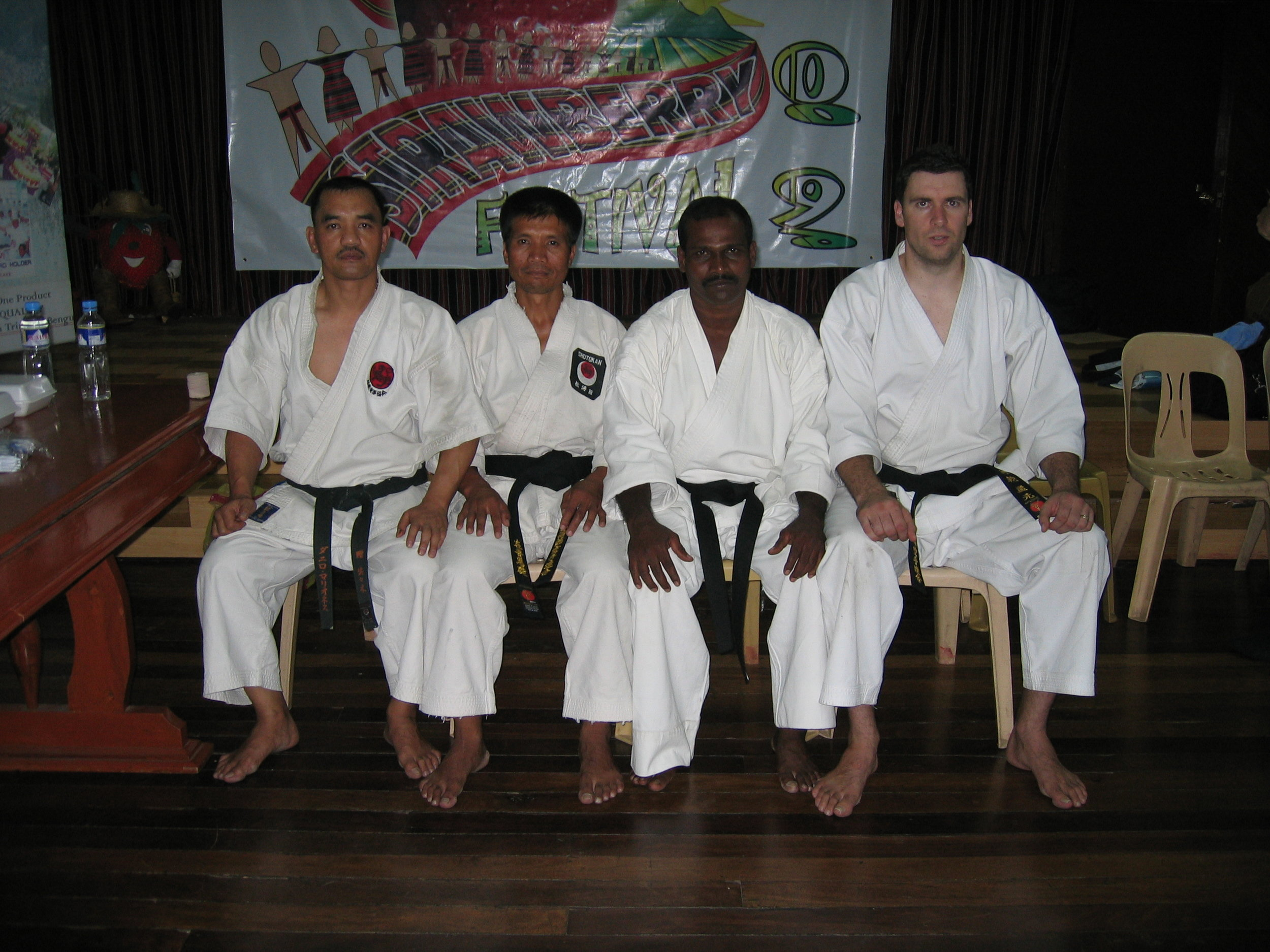 Members of USKU Philipines, Malaysia and New Zealand after a training session in Baguio, Philippines.