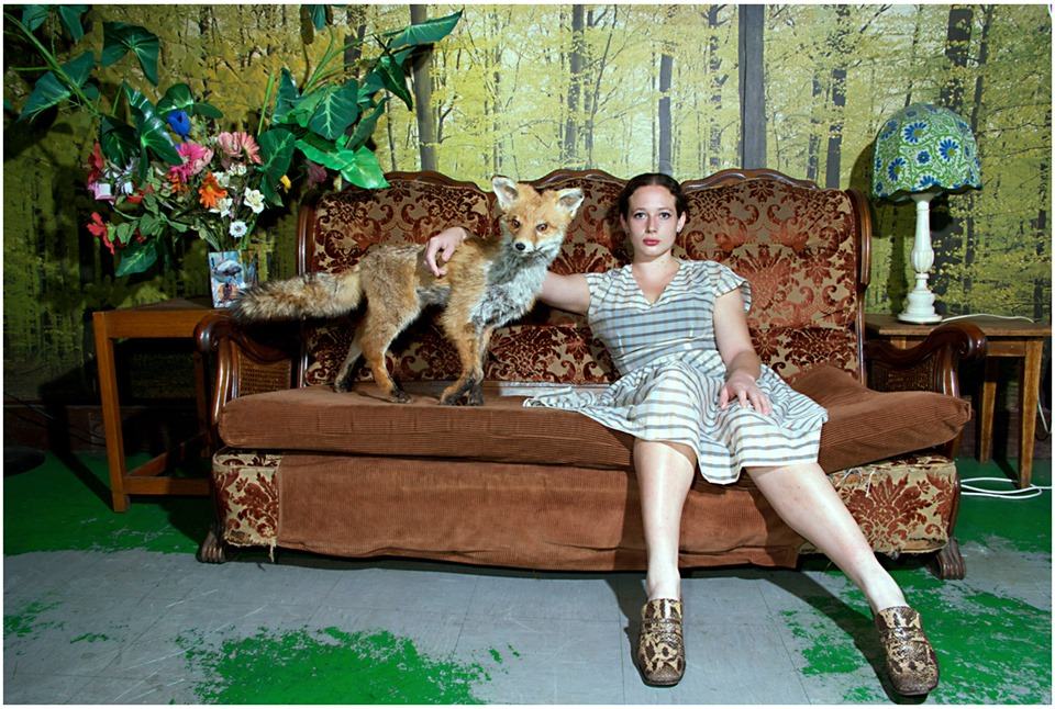 Woman With Fox at Kent St.  (2008) from the series,  Femme Fatalist: Woman With Taxidermy.