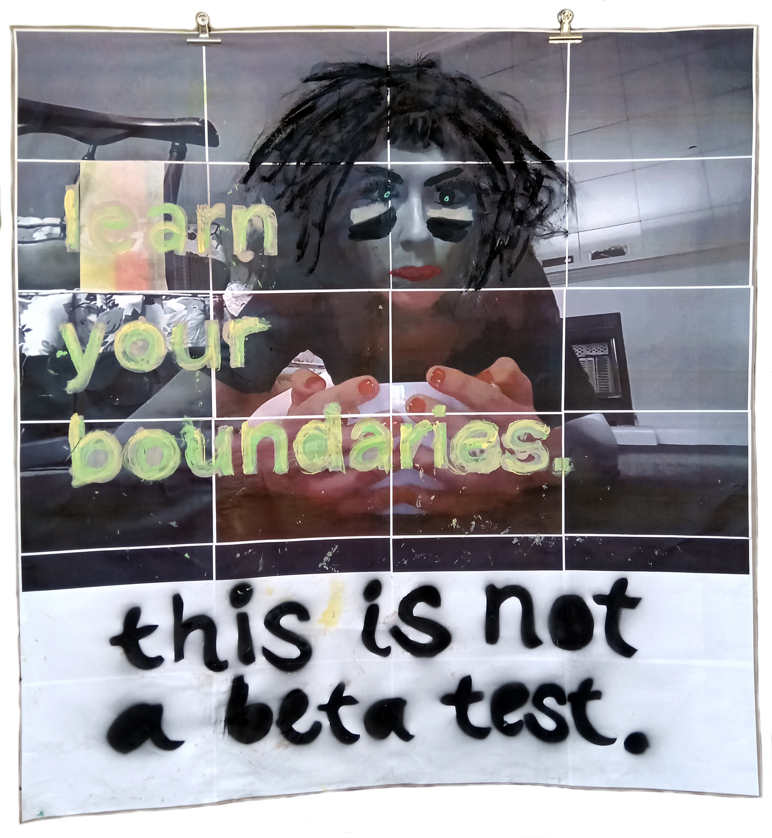 Learn your boundaries. / This is not a beta test.  (2019) from  Tinder Lucida.