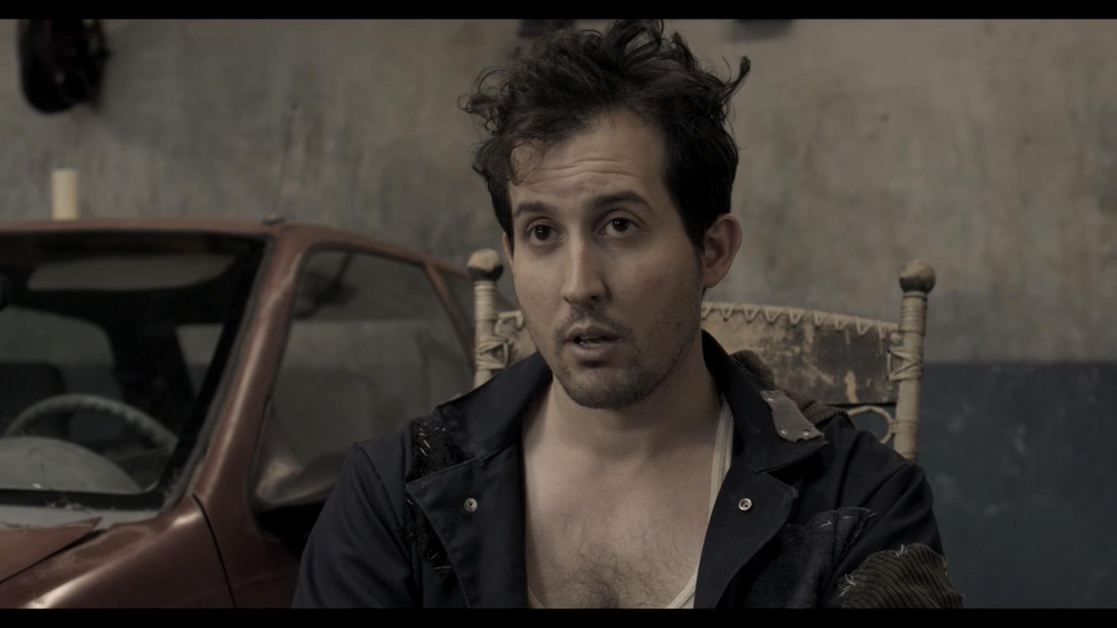 """As Zeke in """"Zeke's Auto"""", directed by Yiran Zhou."""