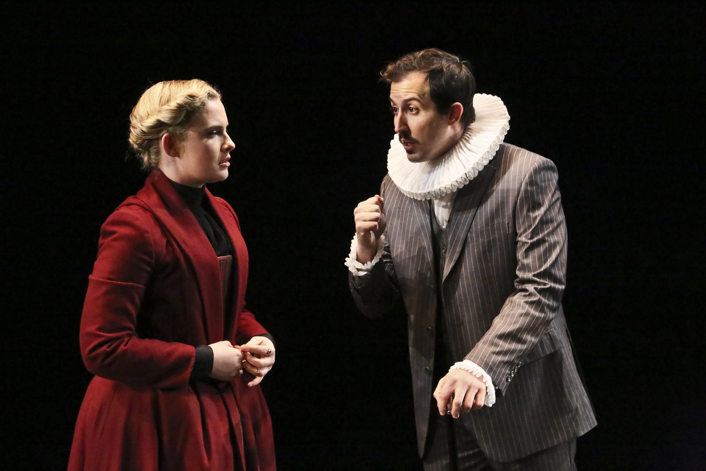 """As Shrewsbury in """"Mary Stuart"""", directed by Marya Mazor."""