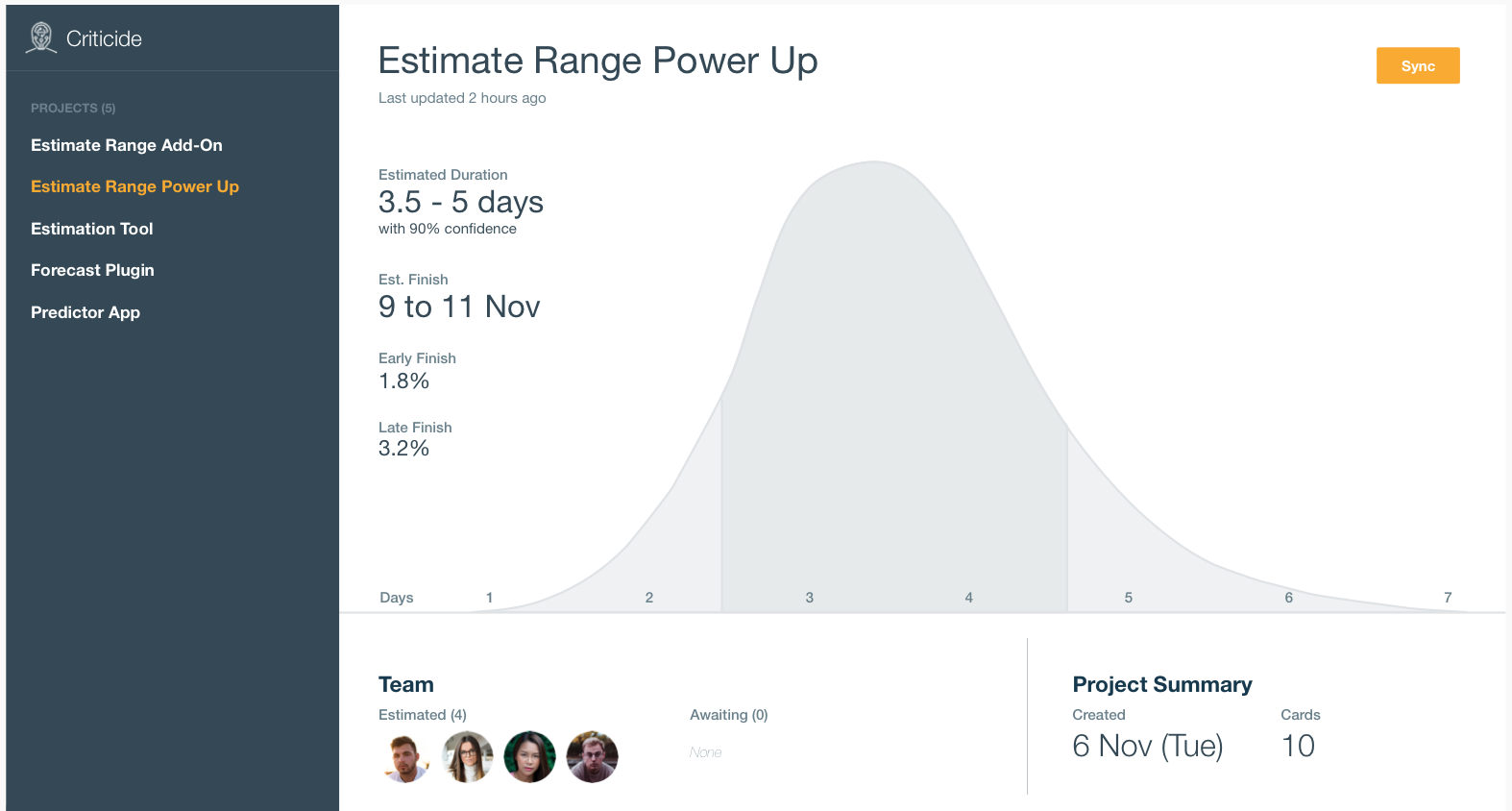Reliable Estimations Made Easy - We're working on a JIRA App and Trello Power Up that makes is super easy to produce more accurate and honest estimations using Monte Carlo Simulations.