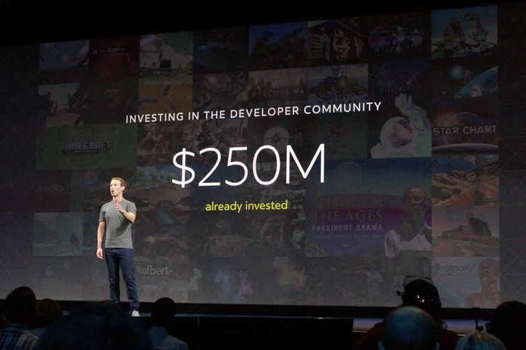 Facebook has invested $250M and will invest another $250M in VR. Source: Tom's Hardware