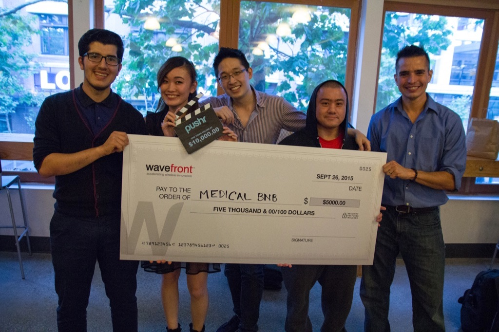 Near the beginning of my journey: winning a hackathon and $25K for our startup idea,and right before getting accepted into Y Combinator.