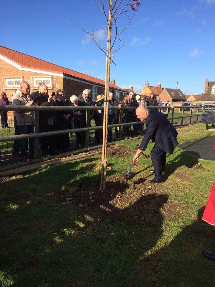 Armistice Day Tree Planting 11th November 2018