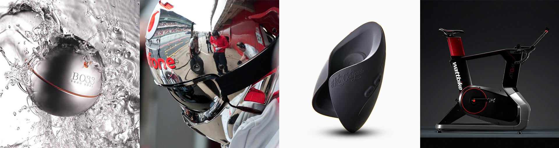 Curventa - product design - Hugo Boss - boss in motion - Ruroc - RG1 - Vodafone - Formula 1 - pit lane - crew - Hotoctopuss - pulse - guybrator - sex toy - wattbike - atom - indoor trainer