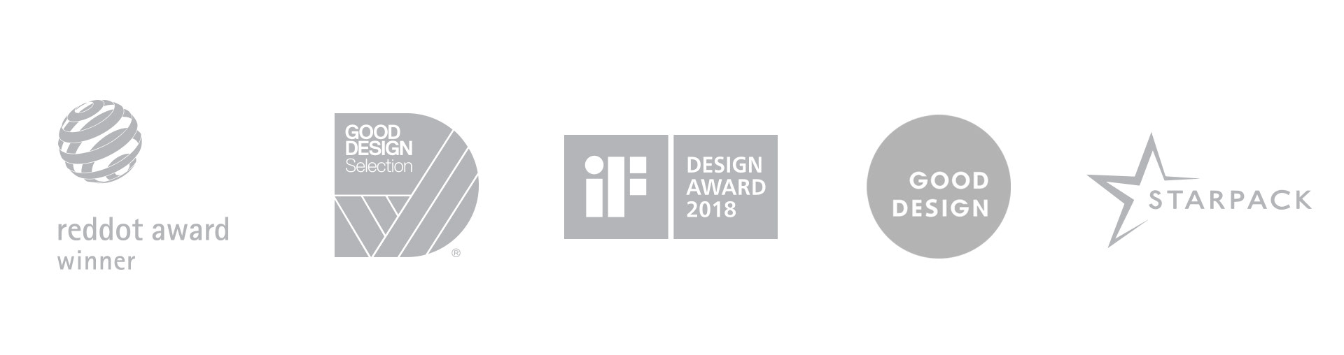 Reddor design award - Good design award - iF design award - Starpack - logos