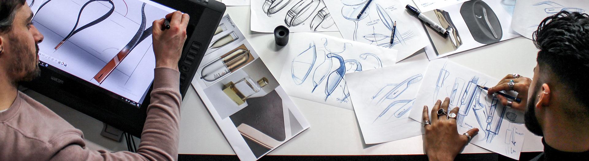 Curventa - Ideation - industrial designer - sketching - id sketching - digital rendering - blue pencil sketches - product design sketches