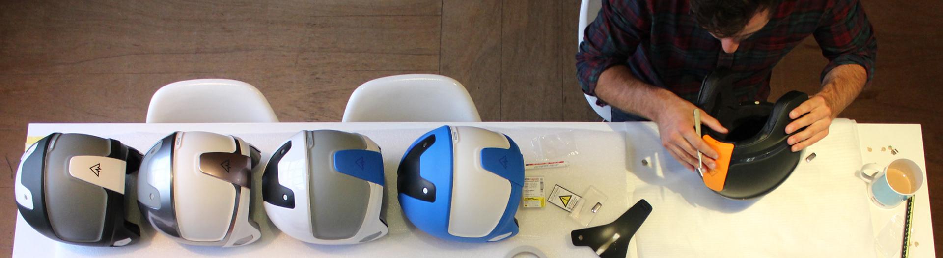 Curventa - prototyping - model making - helmets - link pro