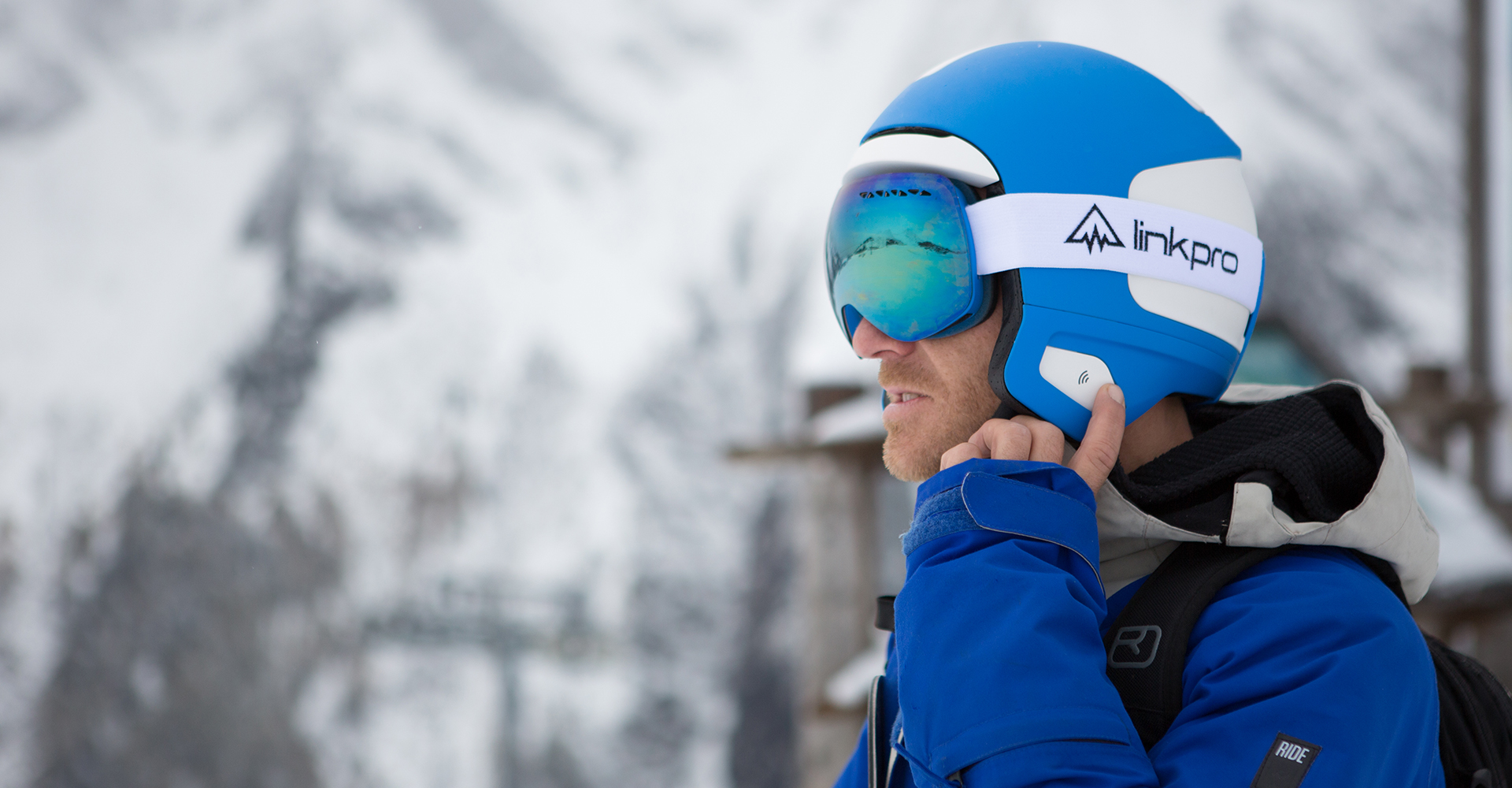 Link Pro - Curventa - In situ - snowboard - helmet - communication - headphones