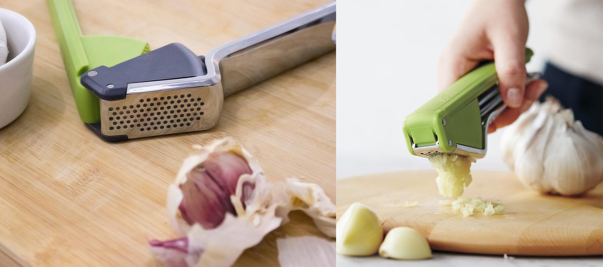 Zeal Garlic press | In use