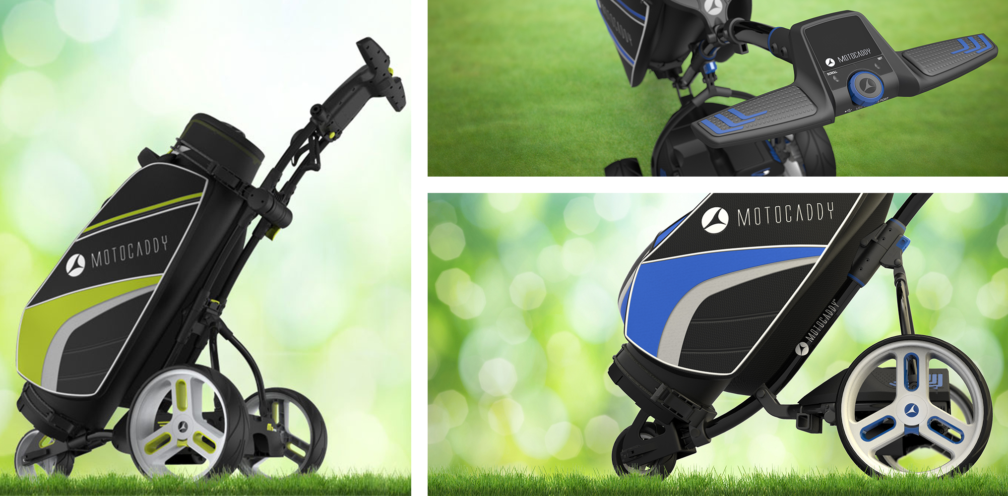 Motocaddy - M1 Pro - Golf trolley - grass - m series - golf