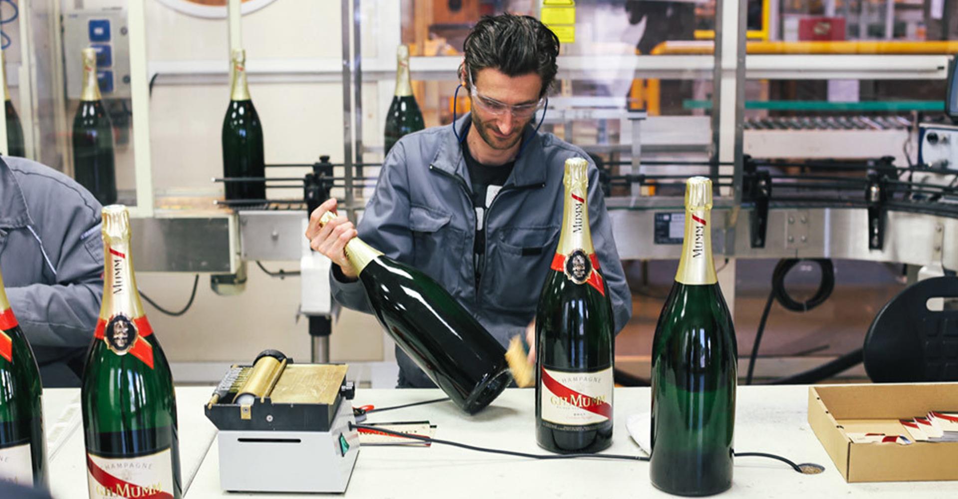 Mumm Champagne   Manufacturing