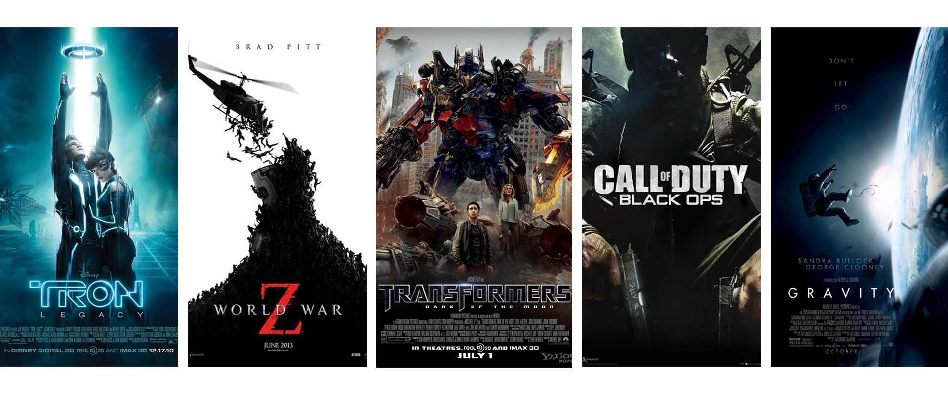 curventa - vicon - cara - tron - world war z - transformers - call of duty black ops - gravity