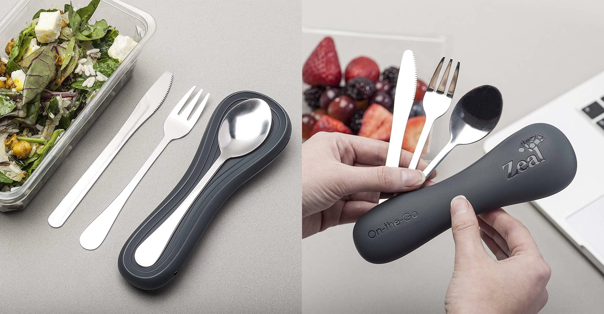 CKS Zeal 2018 range| On-the-go cutlery pouch black set