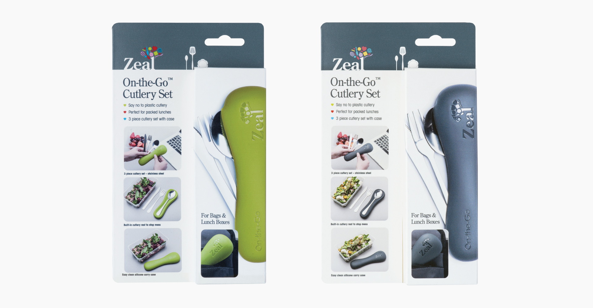 CKS Zeal 2018 range| On-the-go cutlery pouch - CKS - Zeal - Packaging - Graphics - Design - Card - Graphic Design - Product - Marketing