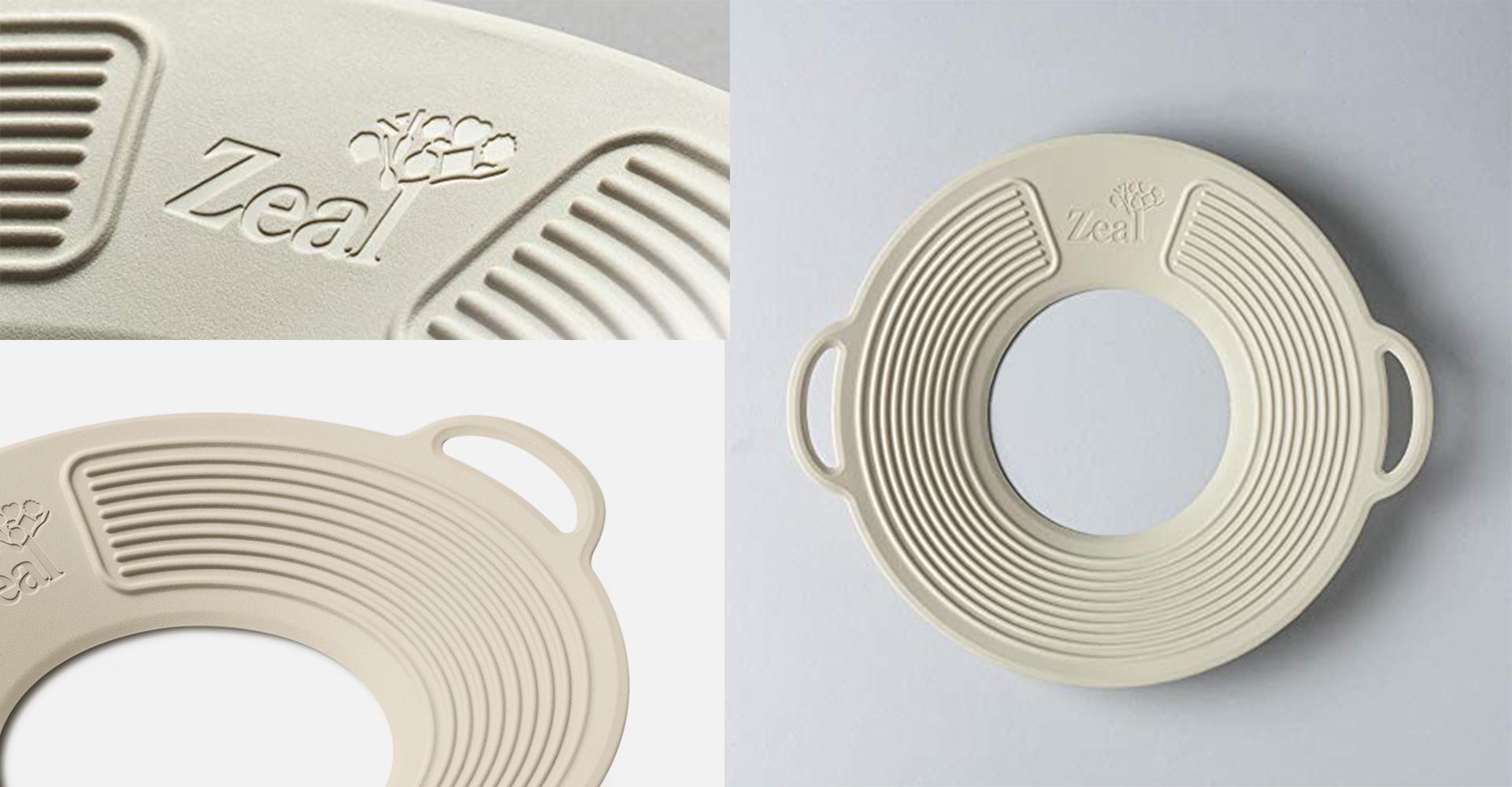 CKS Zeal 2018 range| CKS - Zeal - Boil over lid - Lid - Texture - Design - Detail - Close up - Handle - Hole - Matte