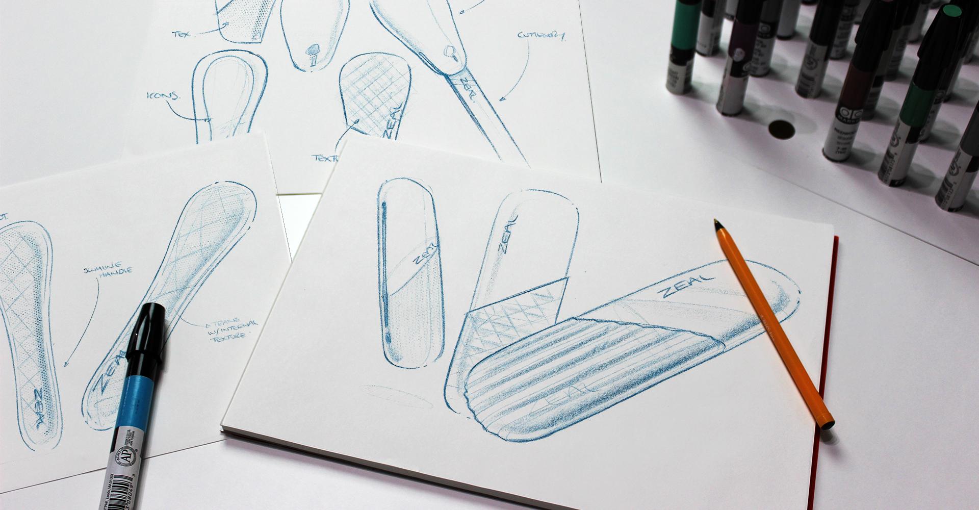 CKS Zeal 2018 range| Concept sketch generation