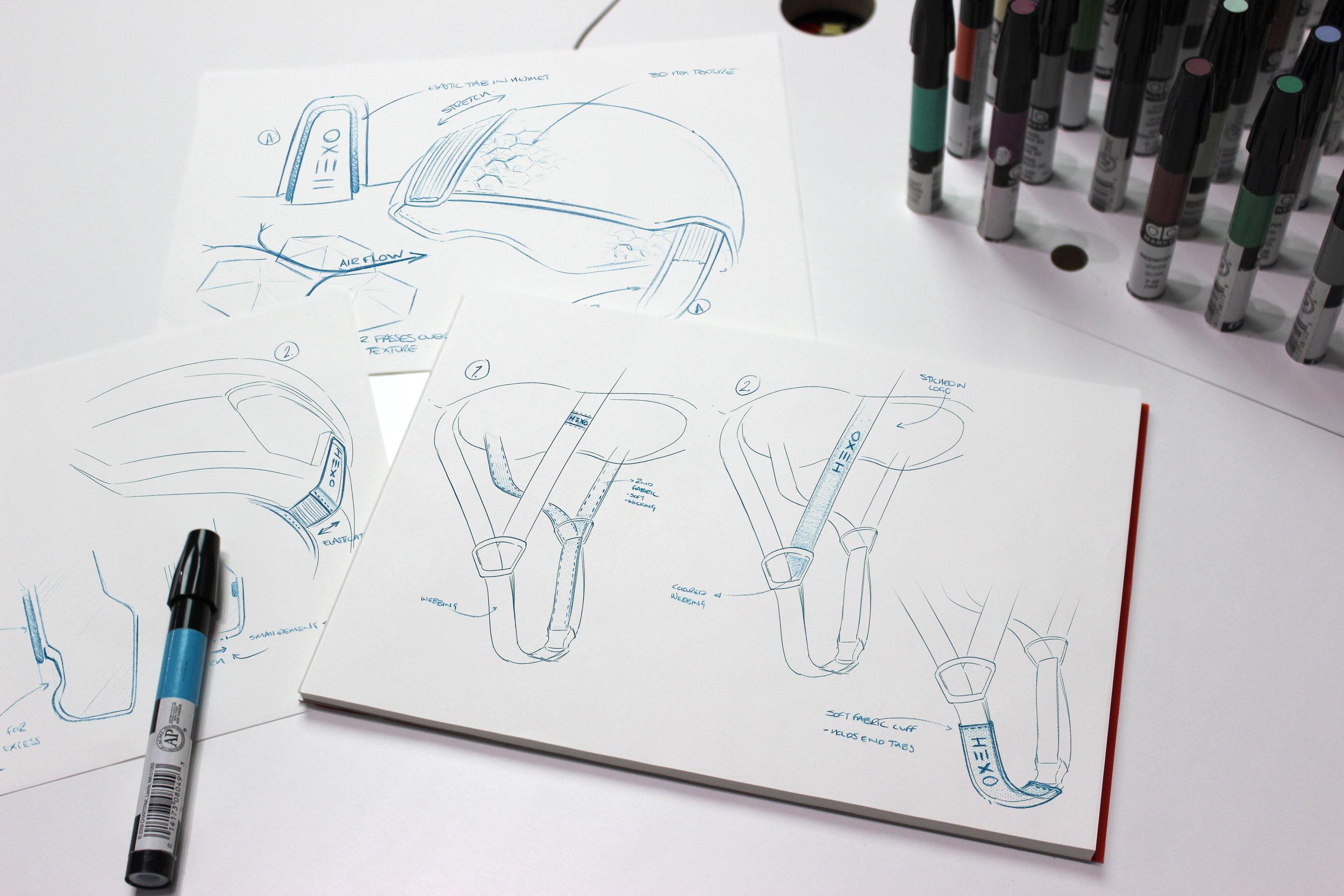 Hexr | Sketching detail development